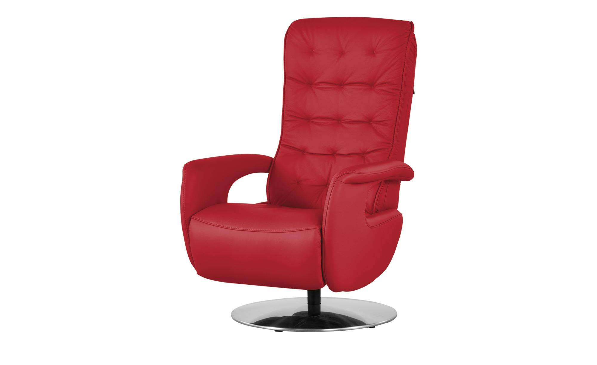 Hukla Relaxsessel  Smilla ¦ rot ¦ Maße (cm): B: 72 H: 113 T: 83 Polstermöbel > Sessel > Ledersessel - Höffner