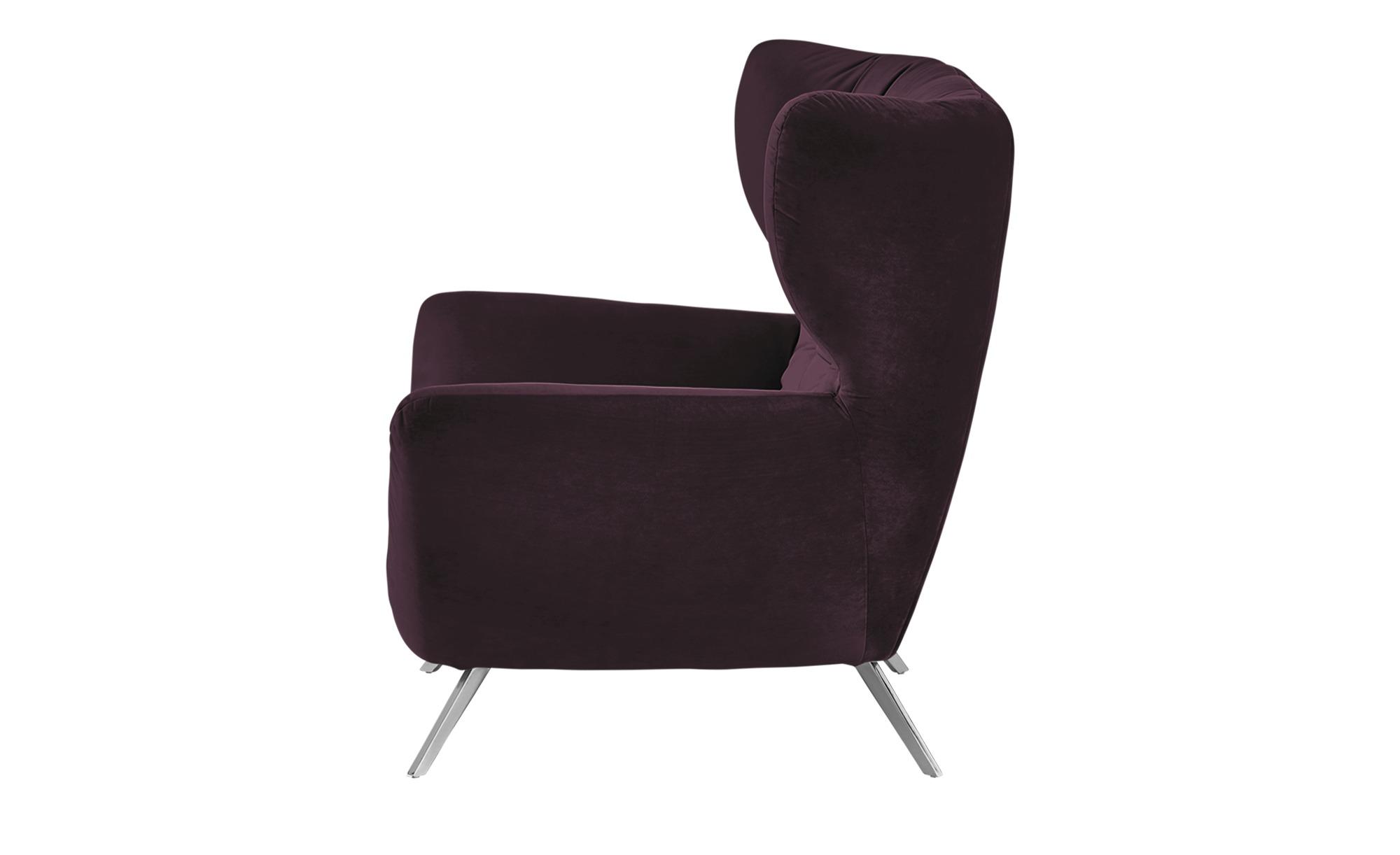 Hochlehnsessel  Caldara ¦ lila/violett ¦ Maße (cm): B: 100 H: 106 T: 95 Polstermöbel > Sessel > Polstersessel - Höffner