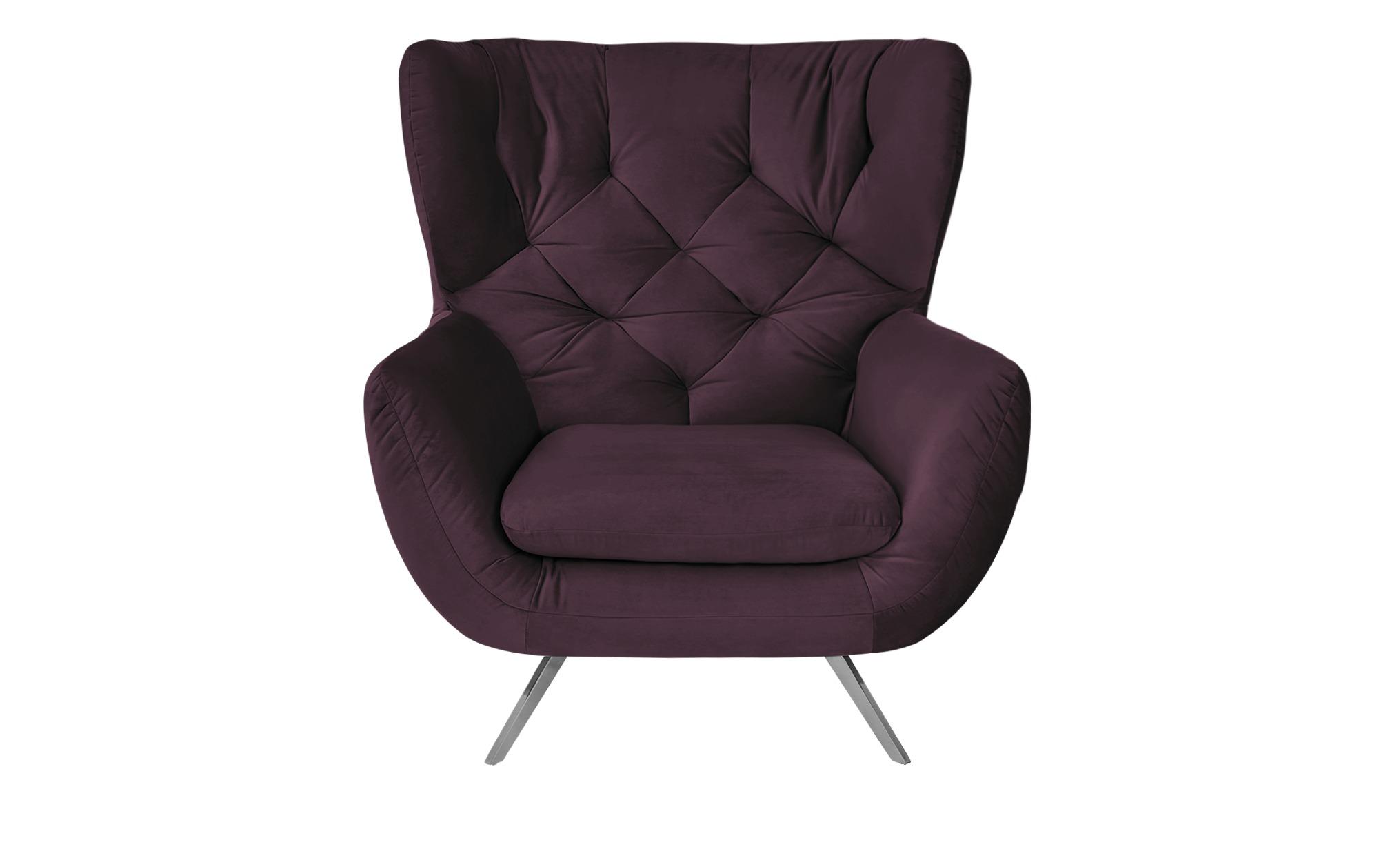 pop Hochlehnsessel  Caldara ¦ lila/violett ¦ Maße (cm): B: 100 H: 106 T: 95 Polstermöbel > Sessel > Ohrensessel - Höffner