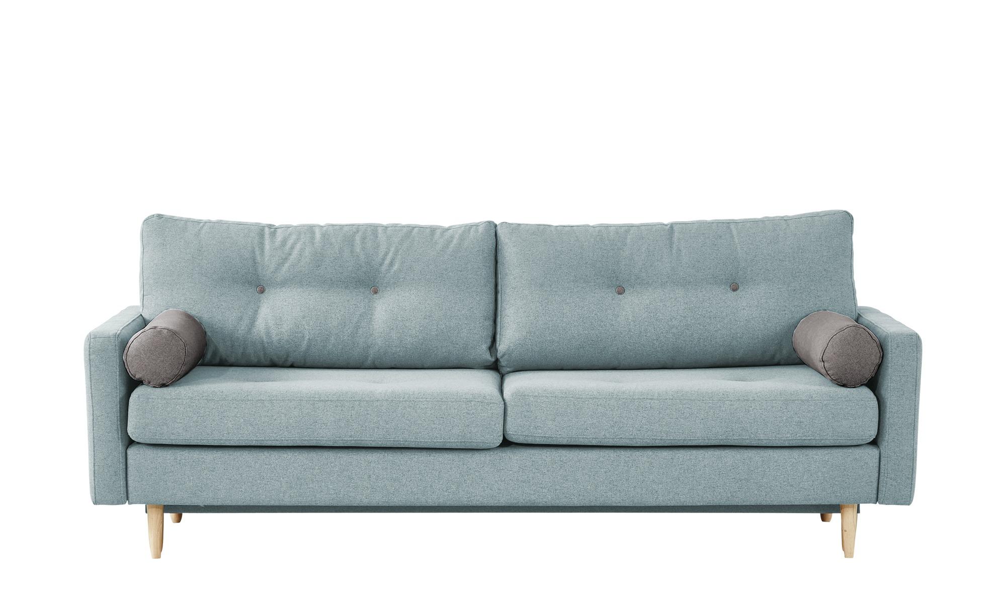 finya Design-Schlafsofa 3-sitzig mintgrün - Webstoff Pure ¦ Maße (cm): B: 218 H: 85 T: 93 Polstermöbel > Sofas > 3-Sitzer - Höffner