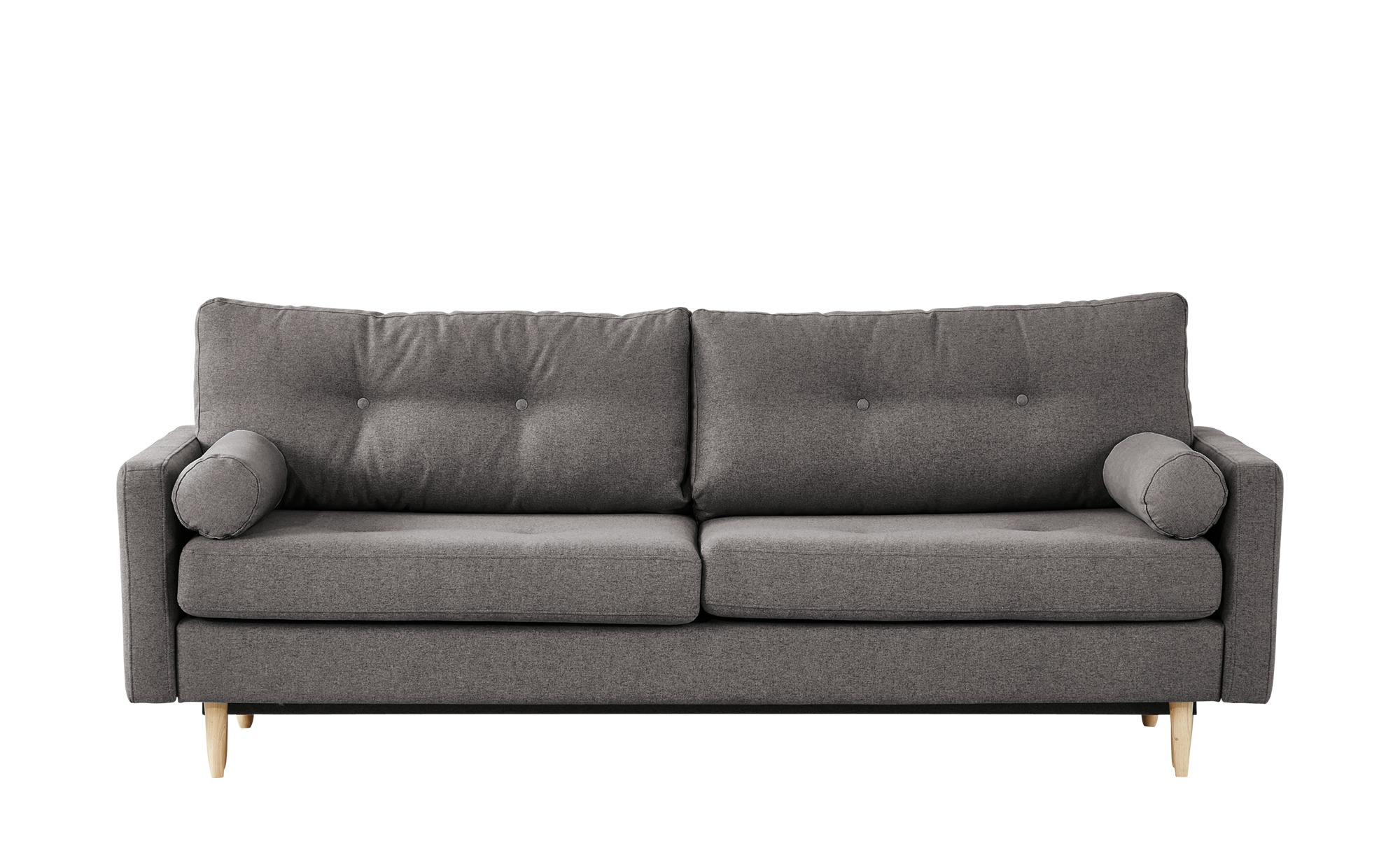 finya Design-Schlafsofa 3-sitzig grau - Webstoff Pure ¦ Maße (cm): B: 218 H: 85 T: 93 Polstermöbel > Sofas > 3-Sitzer - Höffner