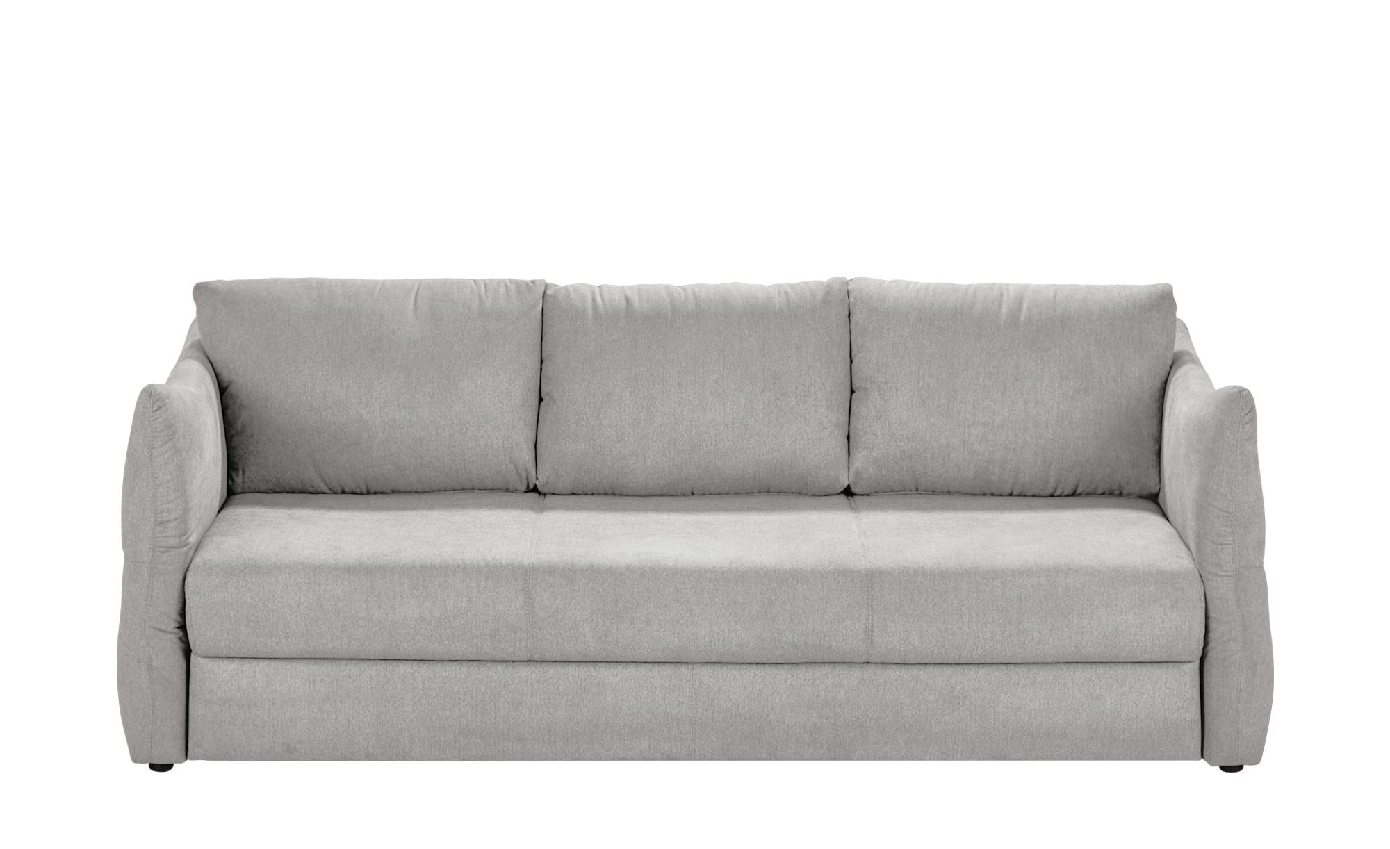 smart Sofa 3-sitzig hellgrau - Webstoff Franziska ¦ grau ¦ Maße (cm): B: 226 H: 100 T: 87 Polstermöbel > Sofas > 3-Sitzer - Höffner