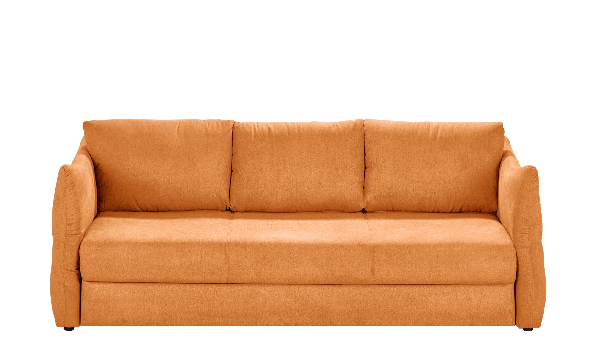 smart Sofa 3-sitzig ocker - Webstoff Franziska ¦ orange ¦ Maße (cm): B: 226 H: 100 T: 87 Polstermöbel > Sofas > 3-Sitzer - Höffner
