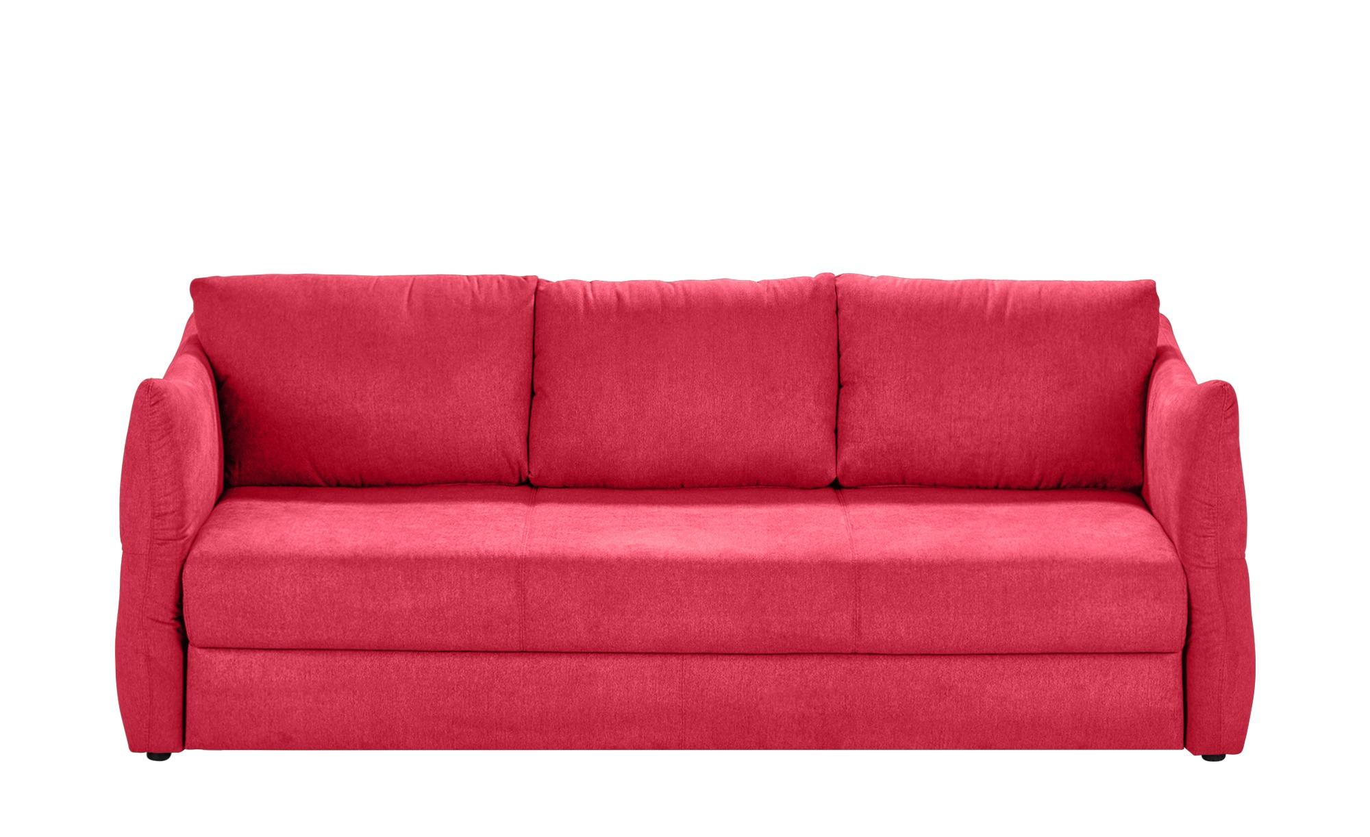 smart Sofa 3-sitzig rot - Webstoff Franziska ¦ rot ¦ Maße (cm): B: 226 H: 100 T: 87 Polstermöbel > Sofas > 3-Sitzer - Höffner