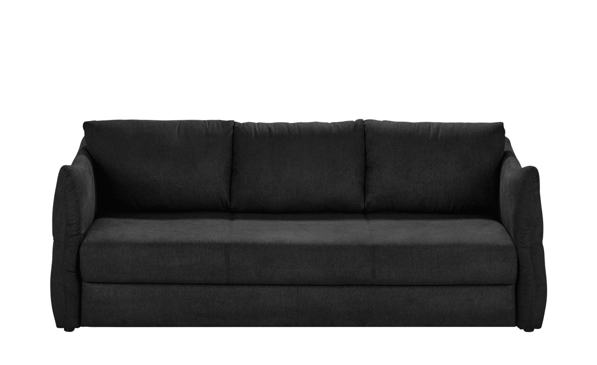 smart Sofa 3-sitzig schwarz - Webstoff Franziska ¦ schwarz ¦ Maße (cm): B: 226 H: 100 T: 87 Polstermöbel > Sofas > 3-Sitzer - Höffner