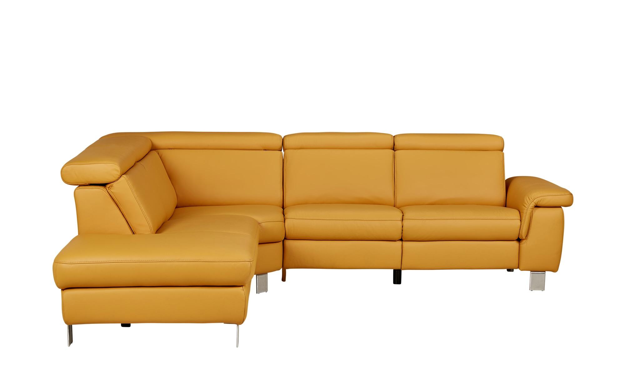 sofa gelb leder review home co. Black Bedroom Furniture Sets. Home Design Ideas