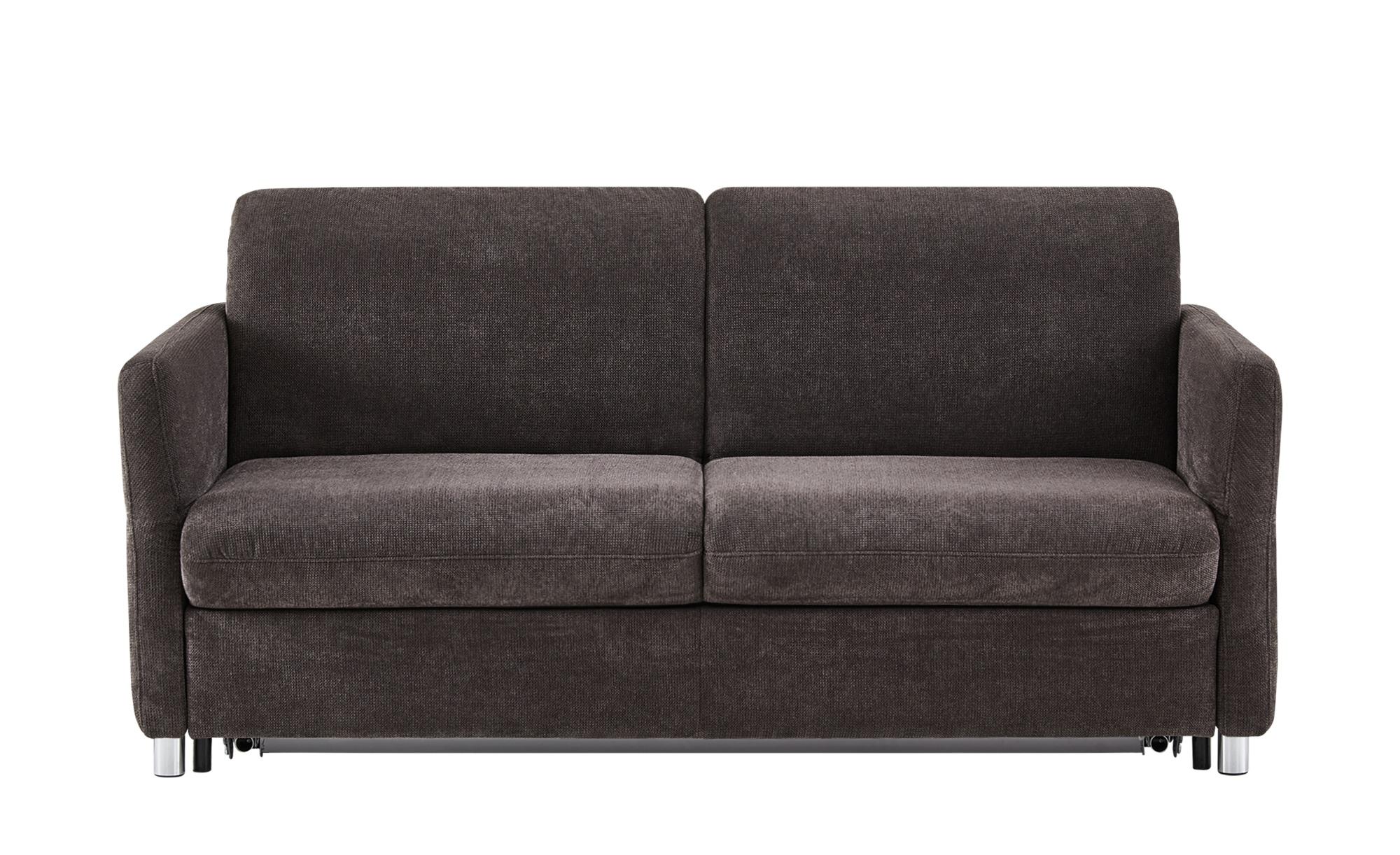Schlafsofa grau - Flachgewebe Michaela Premium ¦ grau ¦ Maße (cm): B: 218 H: 90 T: 102 Polstermöbel > Sofas > 2-Sitzer - Höffner