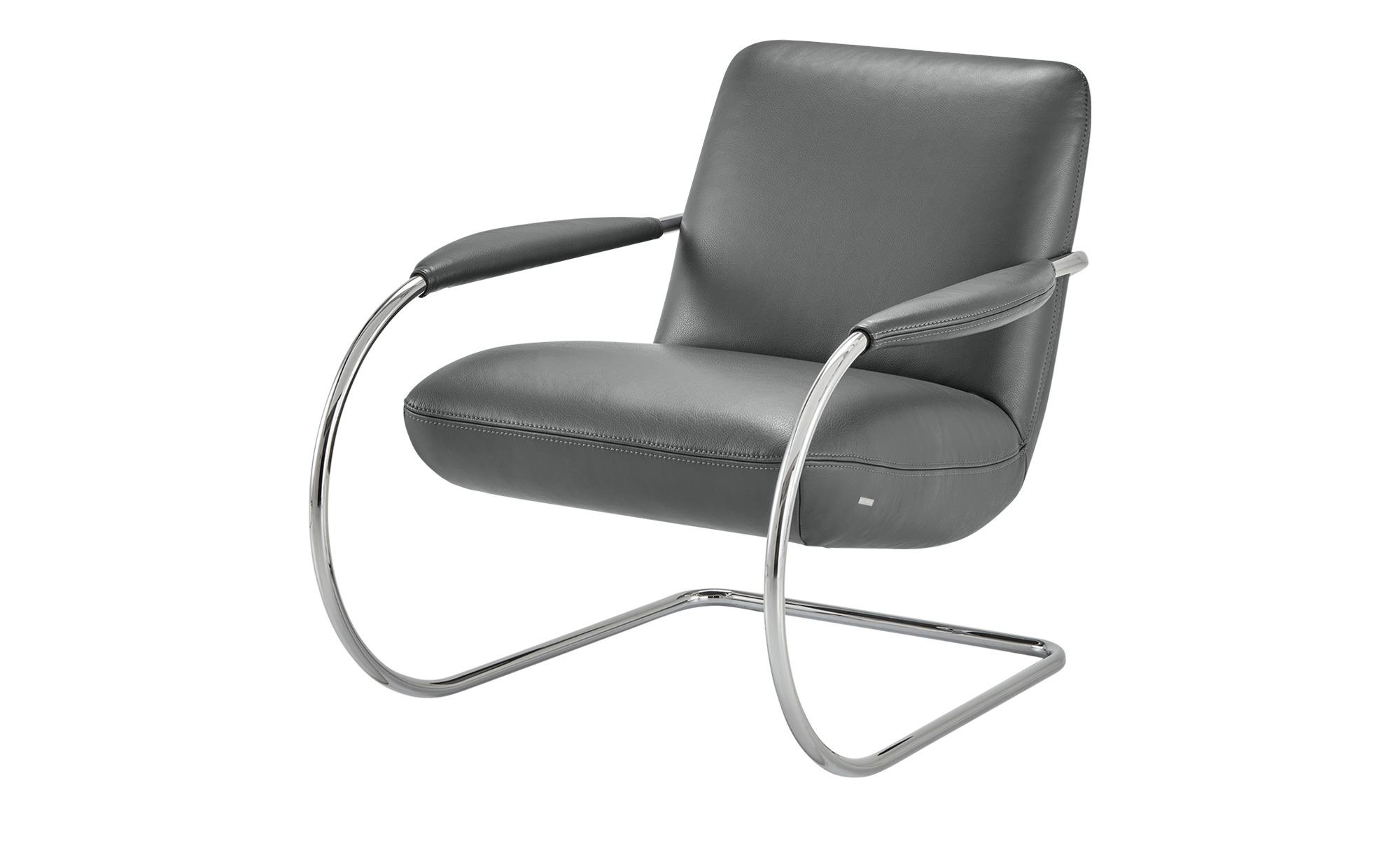 KOINOR Freischwingersessel  Jingle ¦ grau ¦ Maße (cm): B: 80 H: 83 T: 95 Polstermöbel > Sessel > Ledersessel - Höffner