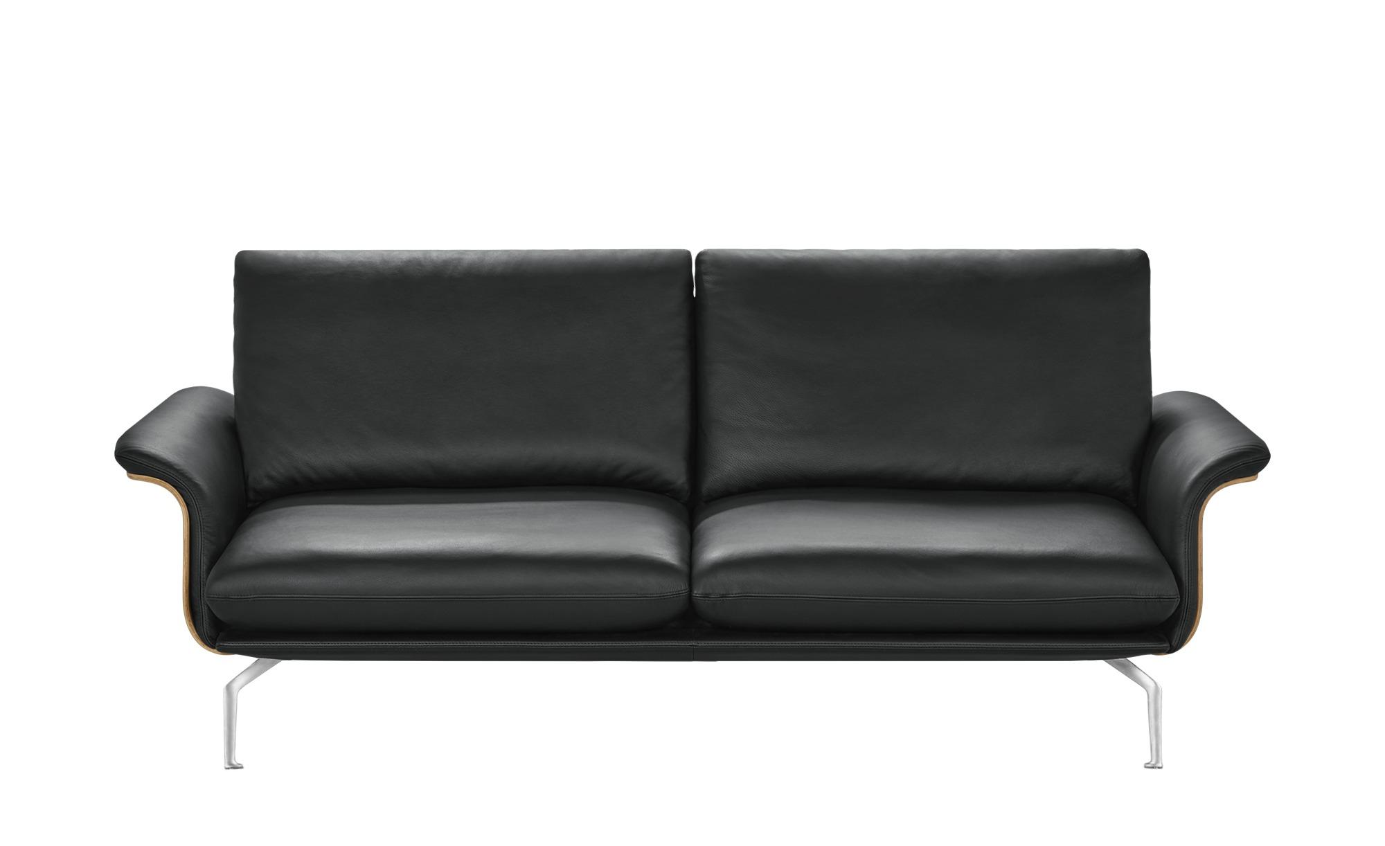 Sofa schwarz - Kunstleder/Leder Lina ¦ schwarz ¦ Maße (cm): B: 217 H: 87 T: 101 Polstermöbel > Sofas > Einzelsofas - Höffner