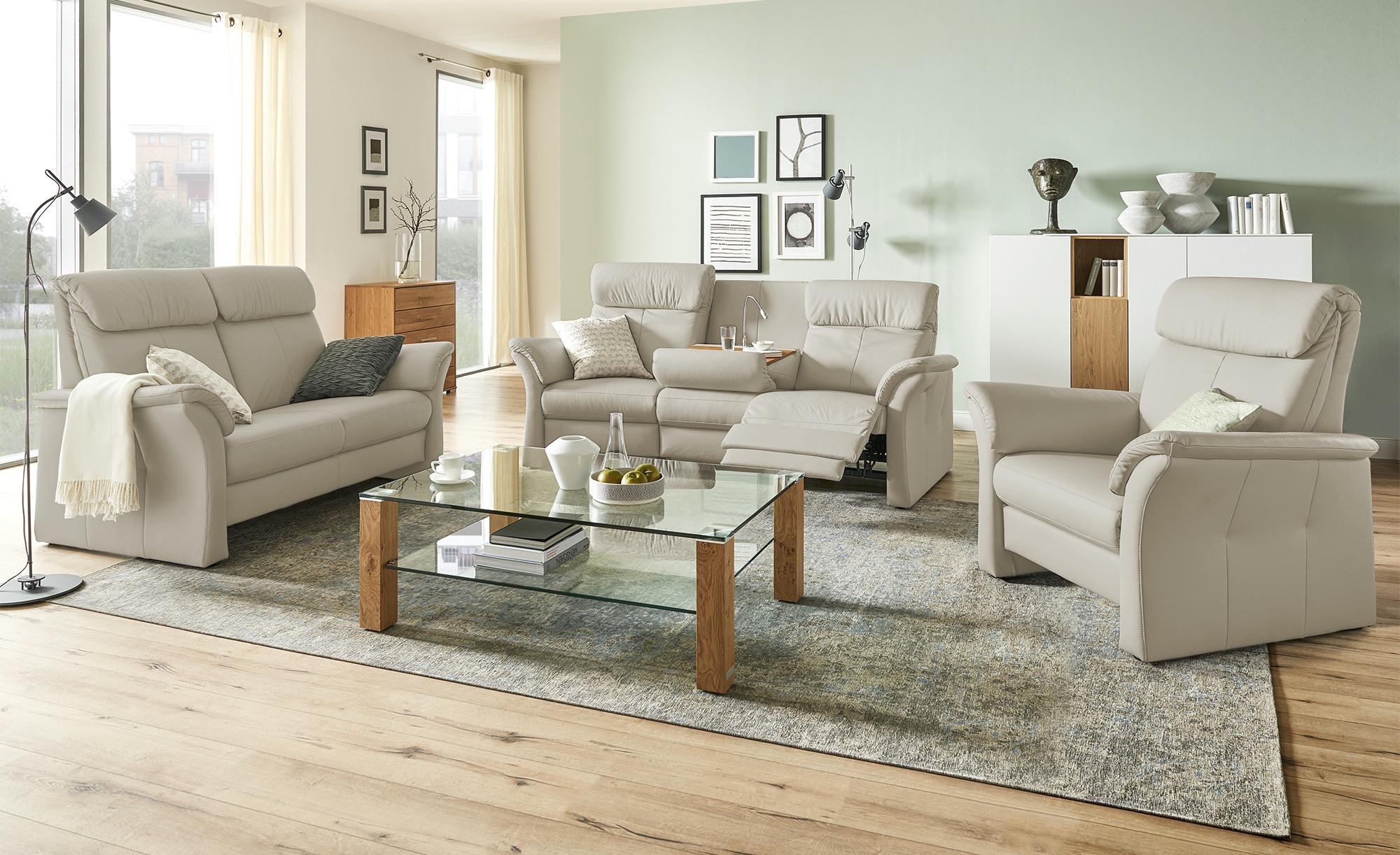 Wohnwert Sofa 2 Sitzer Hellgrau