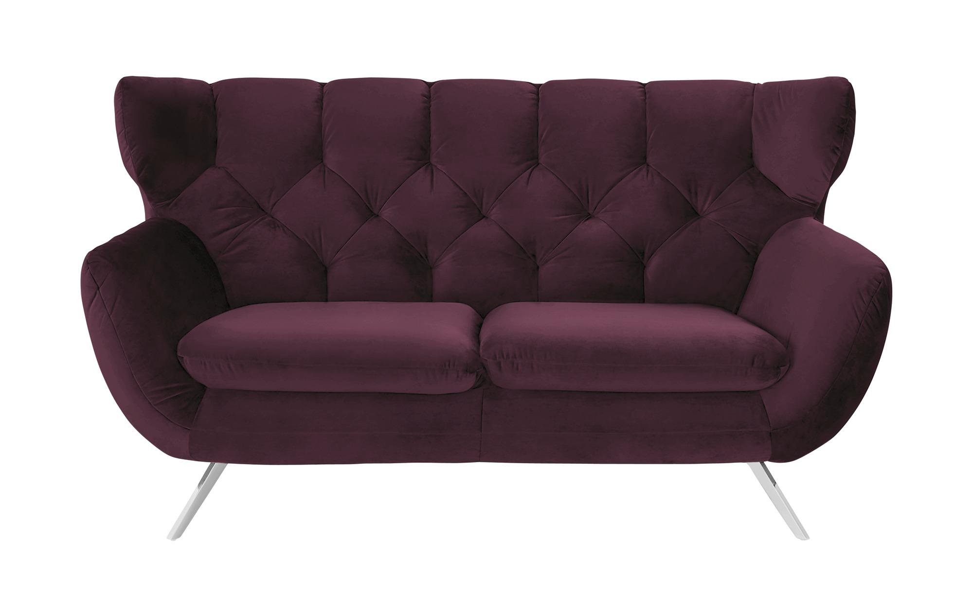 pop Sofa  Caldara ¦ lila/violett ¦ Maße (cm): B: 175 H: 94 T: 95 Polstermöbel > Sofas > 2-Sitzer - Höffner