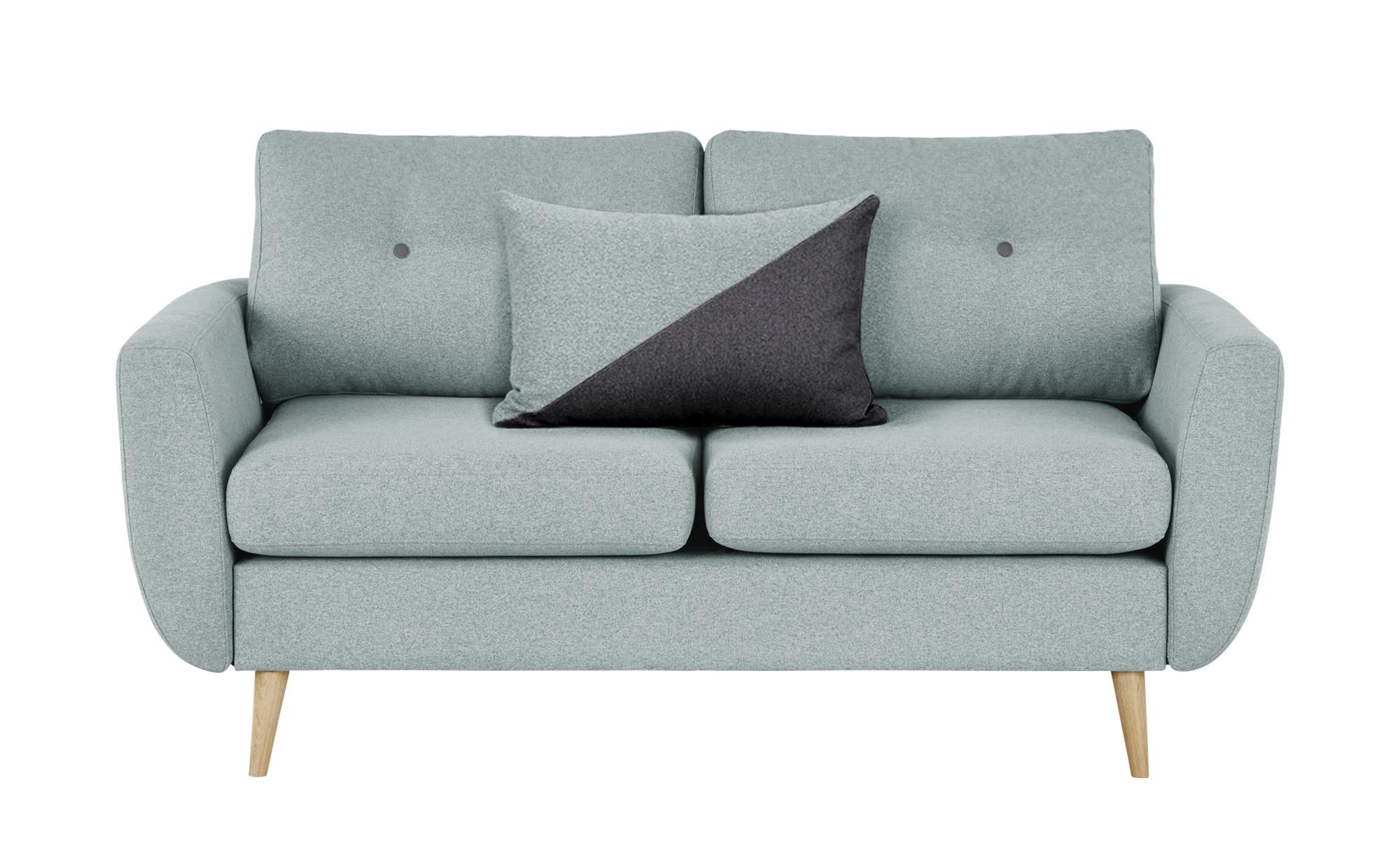 finya Sofa mintgrün - Webstoff Harris ¦ blau ¦ Maße (cm): B: 161 H: 85 T: 92 Polstermöbel > Sofas > 2-Sitzer - Höffner