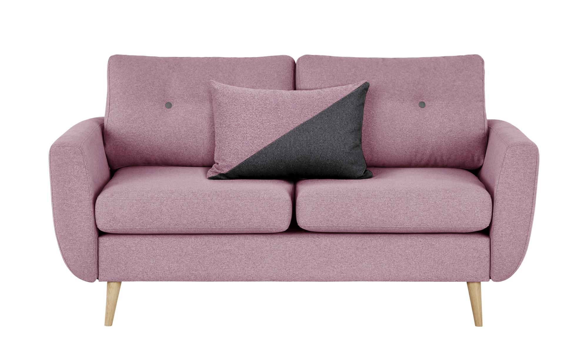 finya Sofa  Harris ¦ rosa/pink ¦ Maße (cm): B: 161 H: 85 T: 92 Polstermöbel > Sofas > 2-Sitzer - Höffner