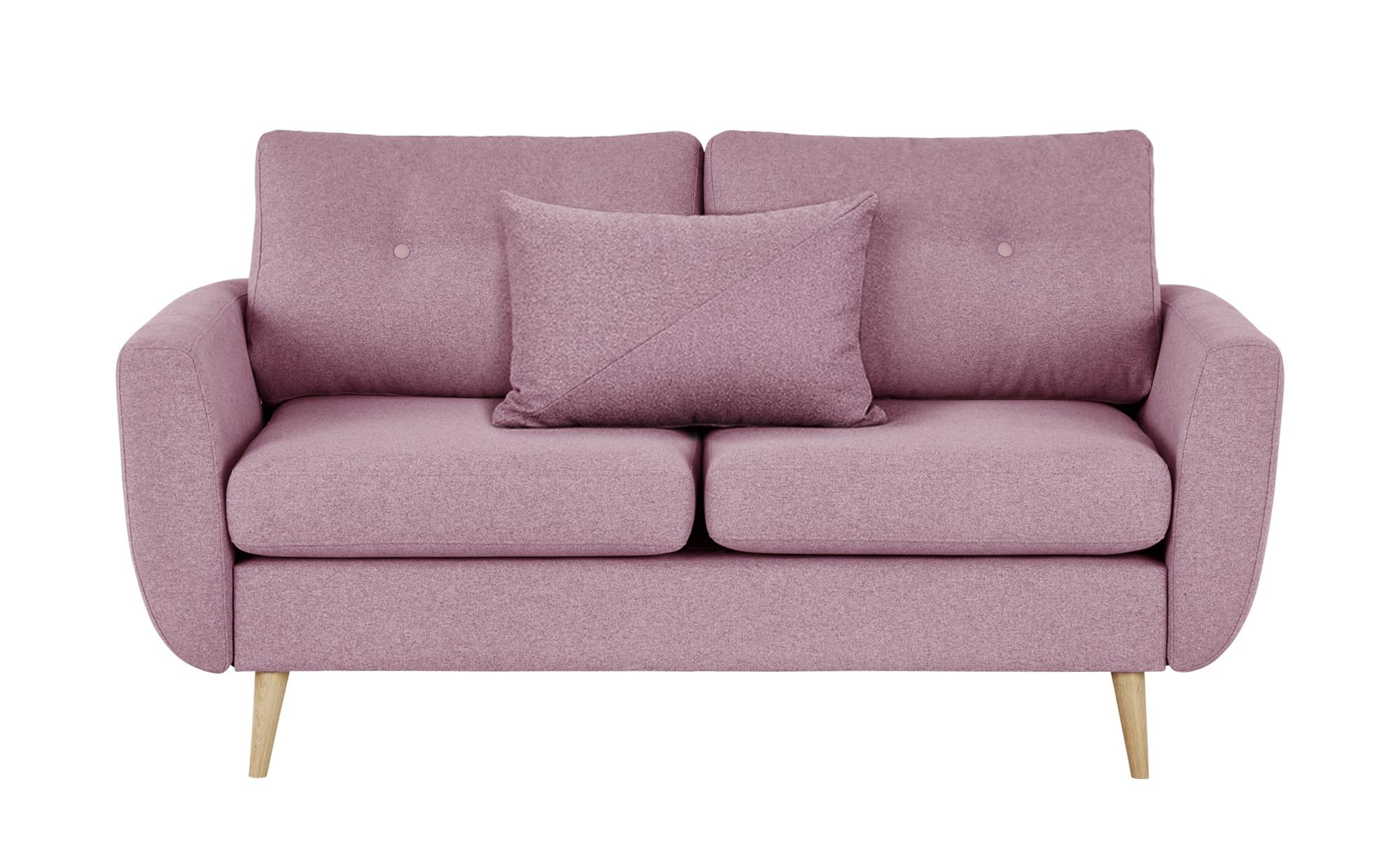 finya Sofa pink - Webstoff Harris ¦ blau ¦ Maße (cm): B: 161 H: 85 T: 92 Polstermöbel > Sofas > 2-Sitzer - Höffner