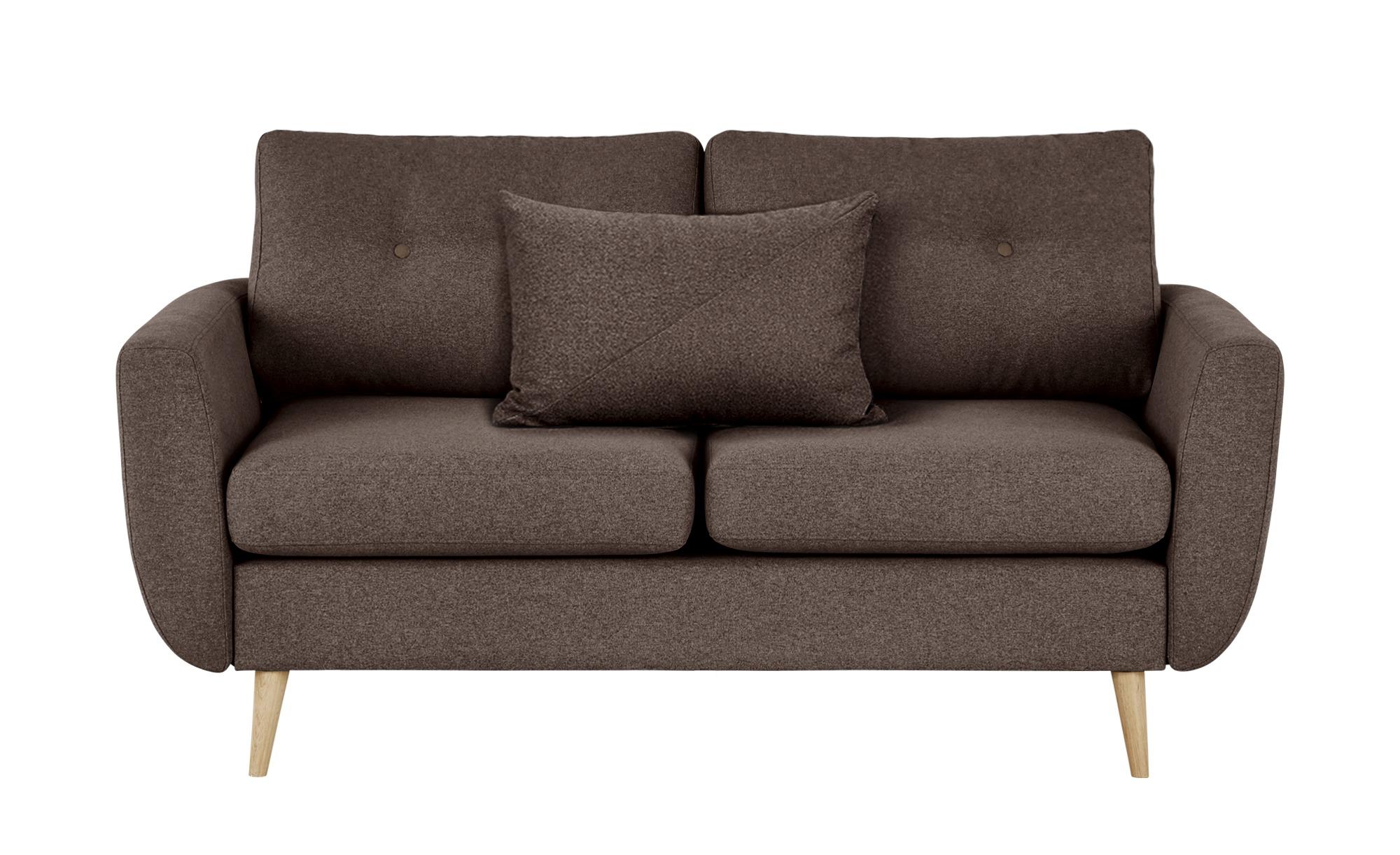 finya Sofa braun - Webstoff Harris ¦ blau ¦ Maße (cm): B: 161 H: 85 T: 92 Polstermöbel > Sofas > 2-Sitzer - Höffner
