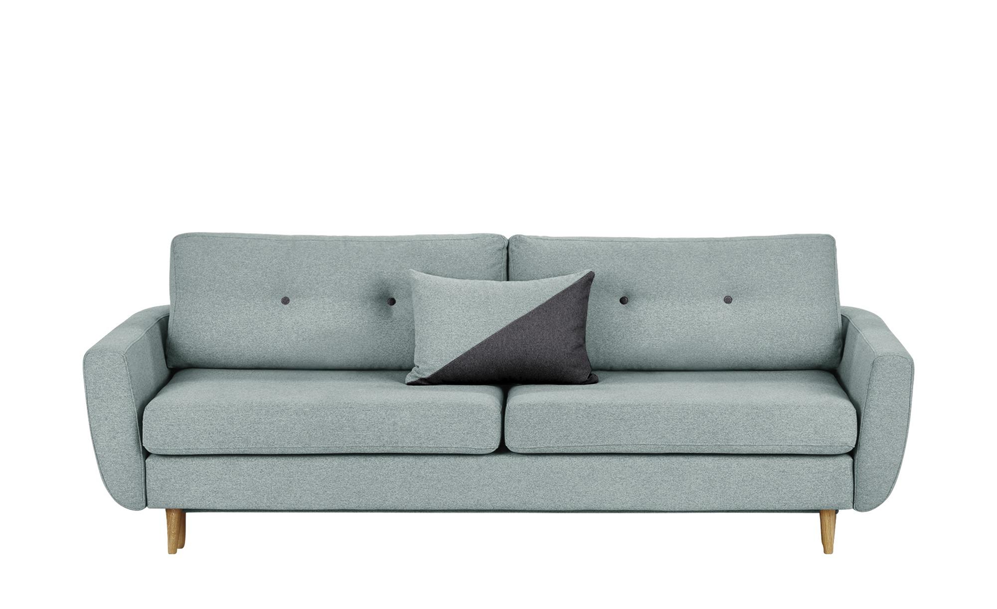 finya Schlafsofa, 3-sitzig mintgrün - Webstoff Harris ¦ Maße (cm): B: 231 H: 85 T: 92 Polstermöbel > Sofas > 3-Sitzer - Höffner