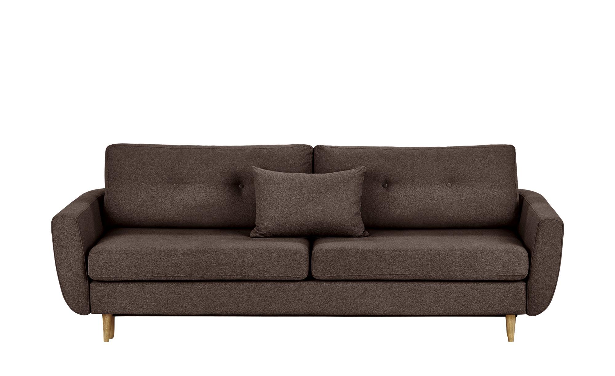 finya Schlafsofa, 3-sitzig braun - Webstoff Harris ¦ Maße (cm): B: 231 H: 85 T: 92 Polstermöbel > Sofas > 3-Sitzer - Höffner