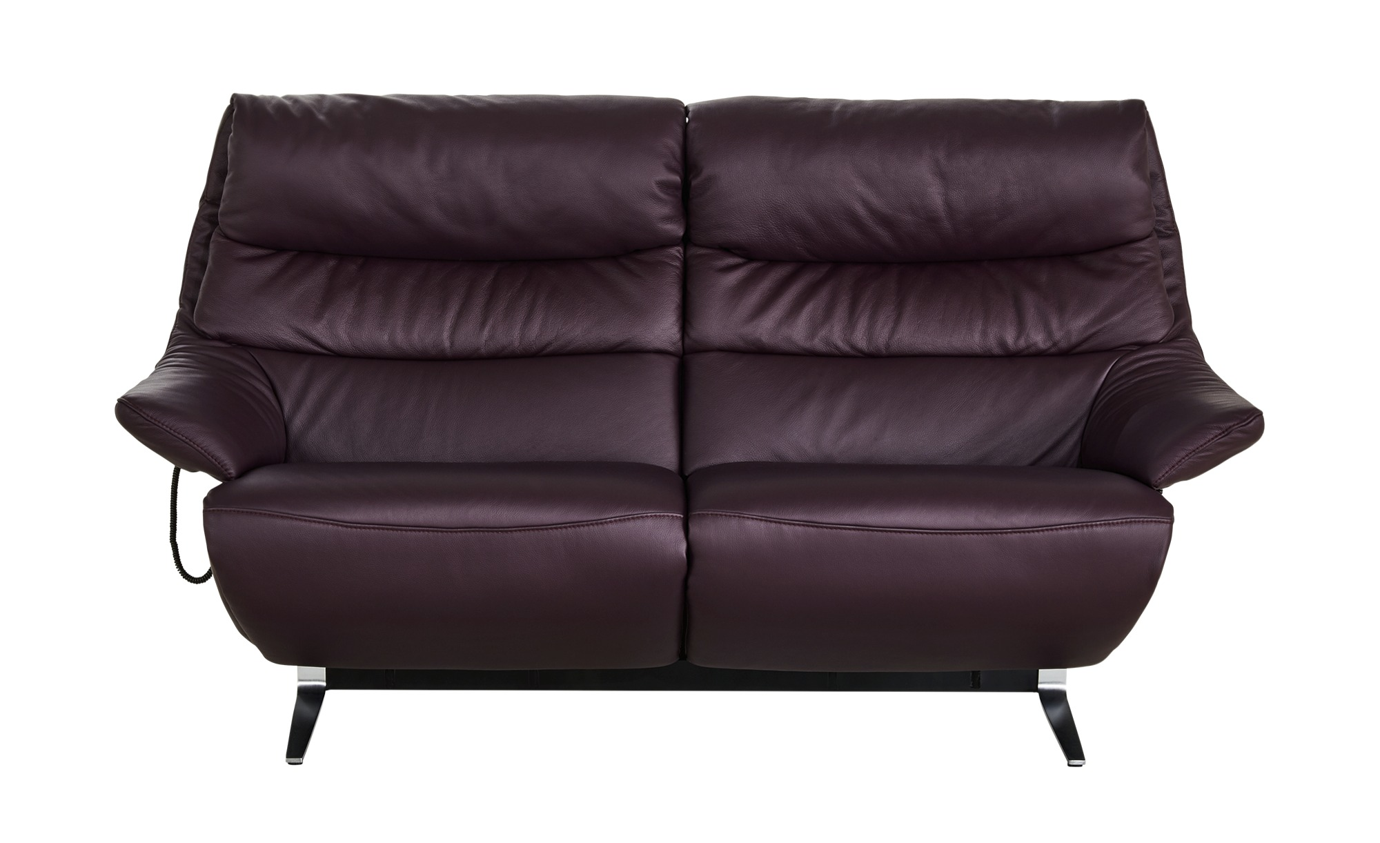 Ledersofa 2,5-sitzig  Salloa ¦ lila/violett ¦ Maße (cm): B: 189 H: 107 T: 92 Polstermöbel > Sofas > Einzelsofas - Höffner