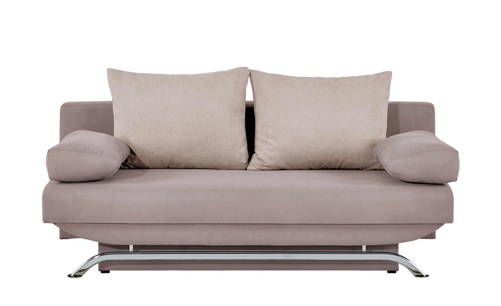 smart Schlafsofa grau-beige - Flachgewebe Monika ¦ beige ¦ Maße (cm): B: 195 H: 76 T: 91 Polstermöbel > Sofas > 2-Sitzer - Höffner