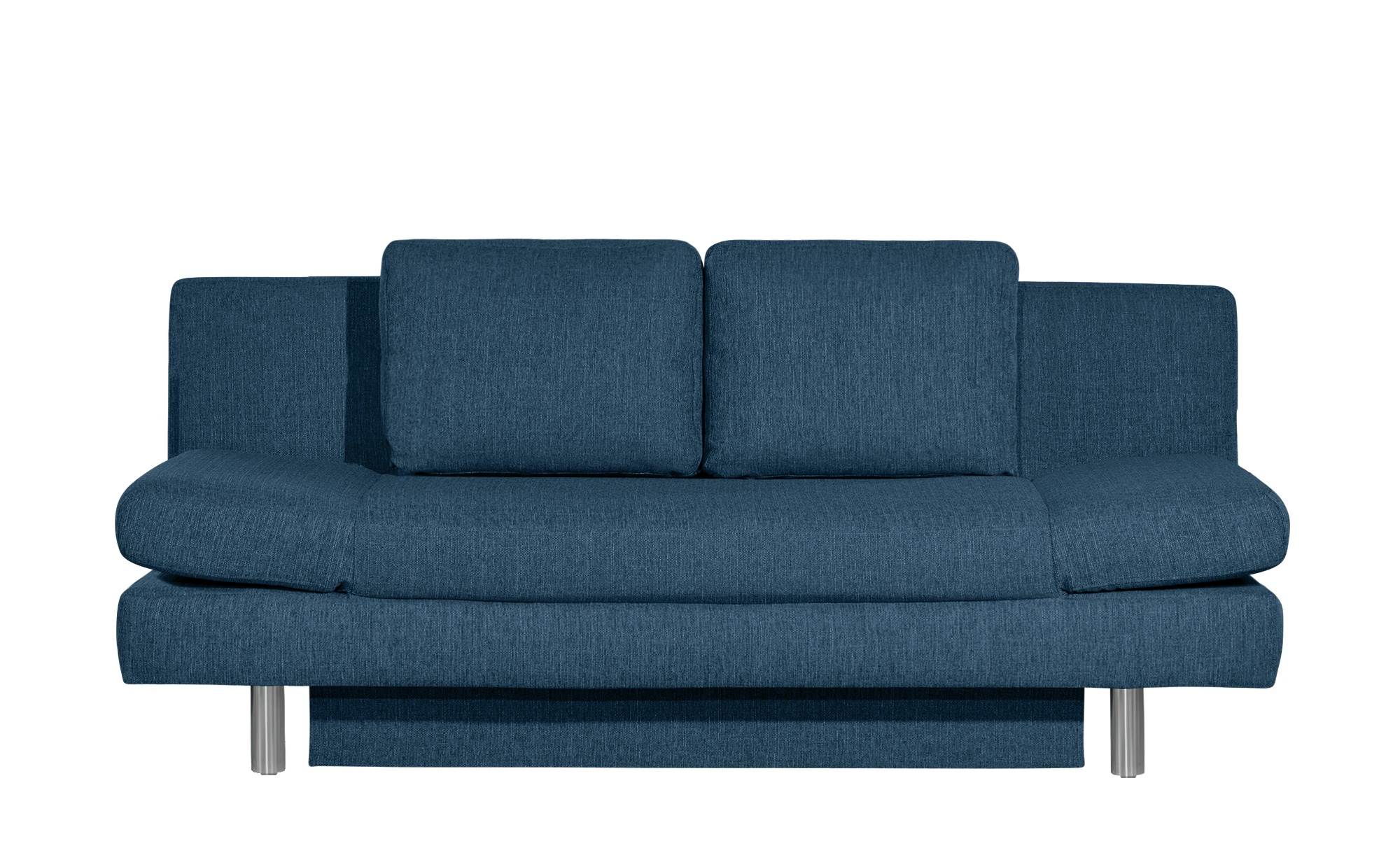 smart Schlafsofa blau - Webstoff Nina ¦ blau ¦ Maße (cm): B: 205 H: 90 T: 95 Polstermöbel > Sofas > 2-Sitzer - Höffner