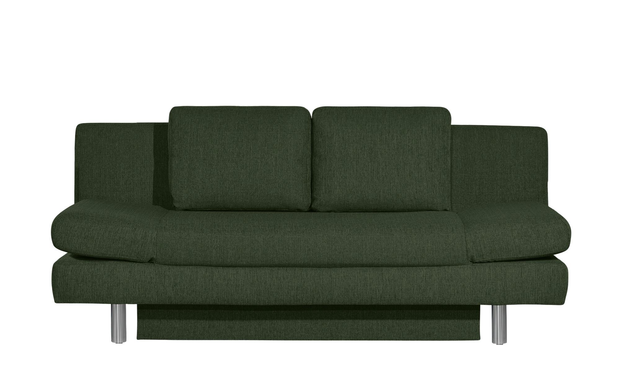 smart Schlafsofa grün - Webstoff Nina ¦ grün ¦ Maße (cm): B: 205 H: 90 T: 95 Polstermöbel > Sofas > 2-Sitzer - Höffner