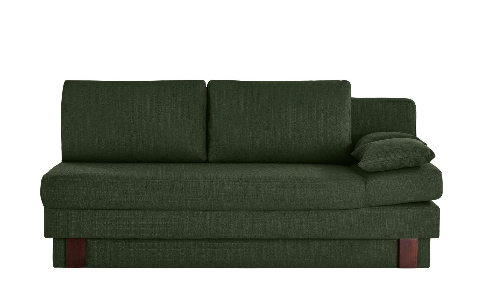 smart Schlafsofa grün - Webstoff Tamara ¦ grün ¦ Maße (cm): B: 202 H: 92 T: 100 Polstermöbel > Sofas > Einzelsofas - Höffner