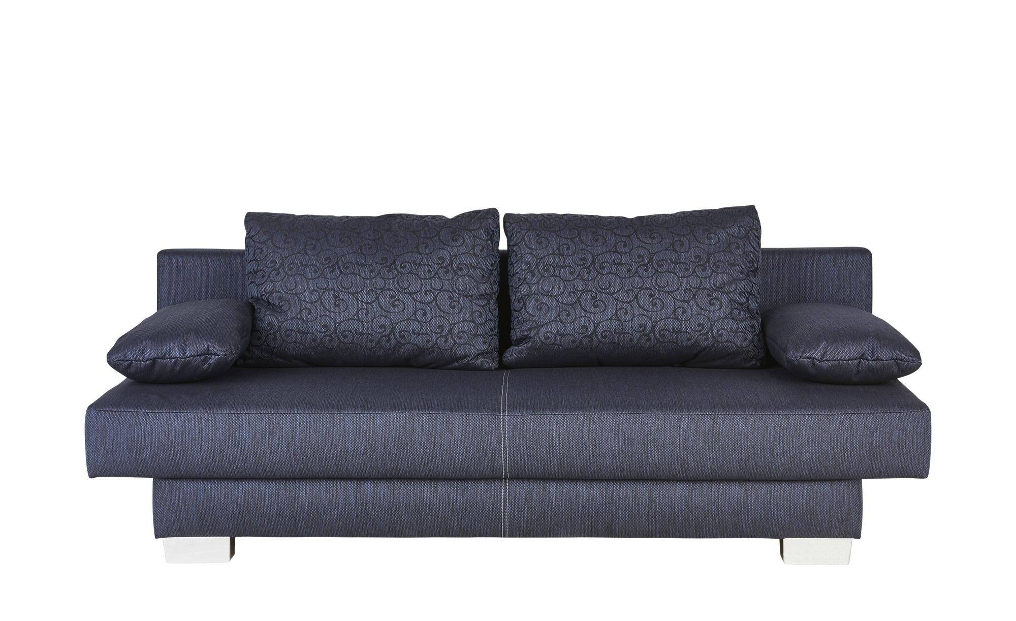 Schlafsofa blau - Webstoff Nia ¦ Maße (cm): B: 193 H: 80 T: 87 Polstermöbel > Sofas > Einzelsofas - Höffner