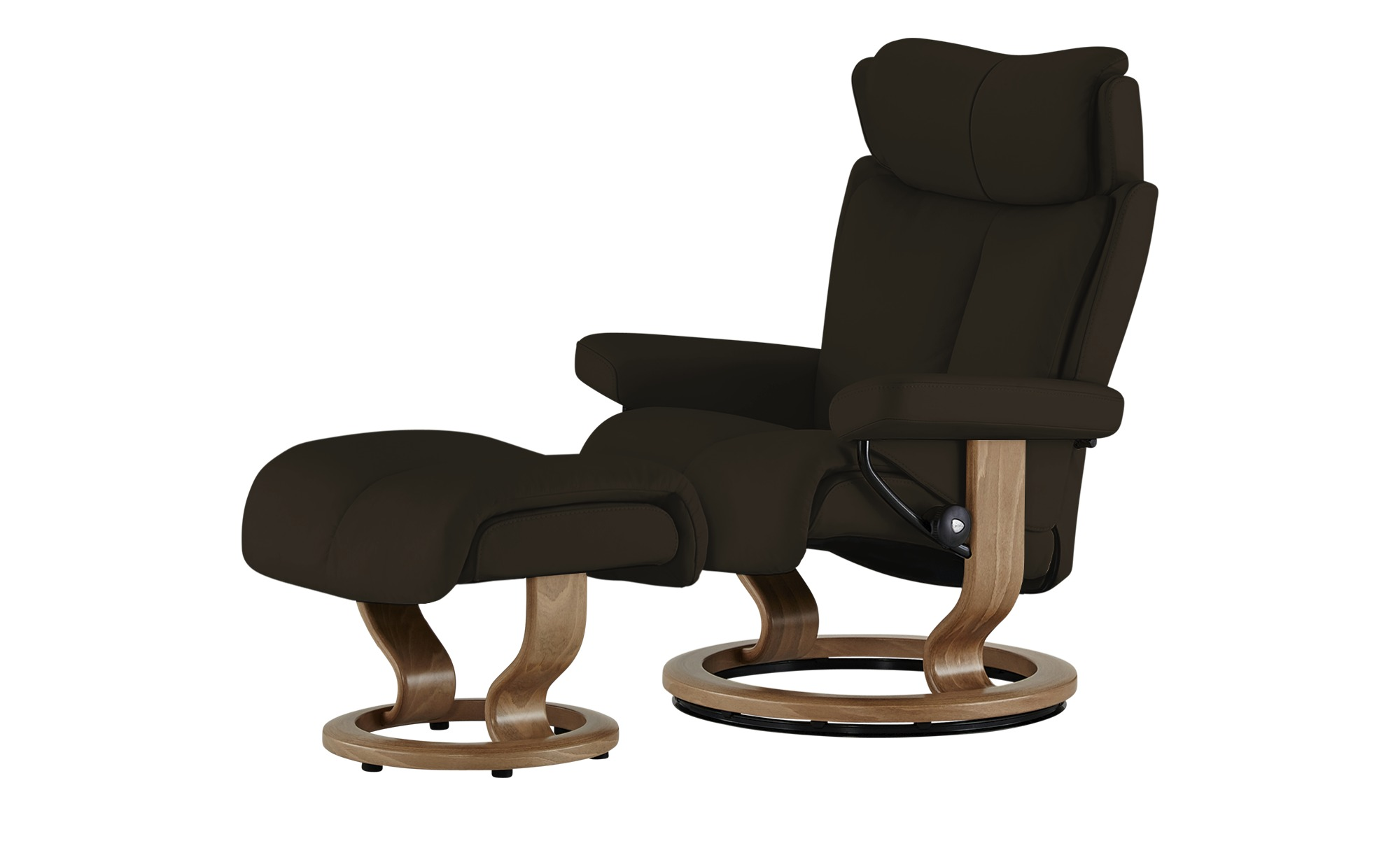 #Stressless Relaxsessel mit Hocker braun – Leder Magic L ¦ braun ¦ Maße (cm): B: 90 H: 111 T: 82 Polstermöbel > Sessel > Fernsehsessel – Höffner#