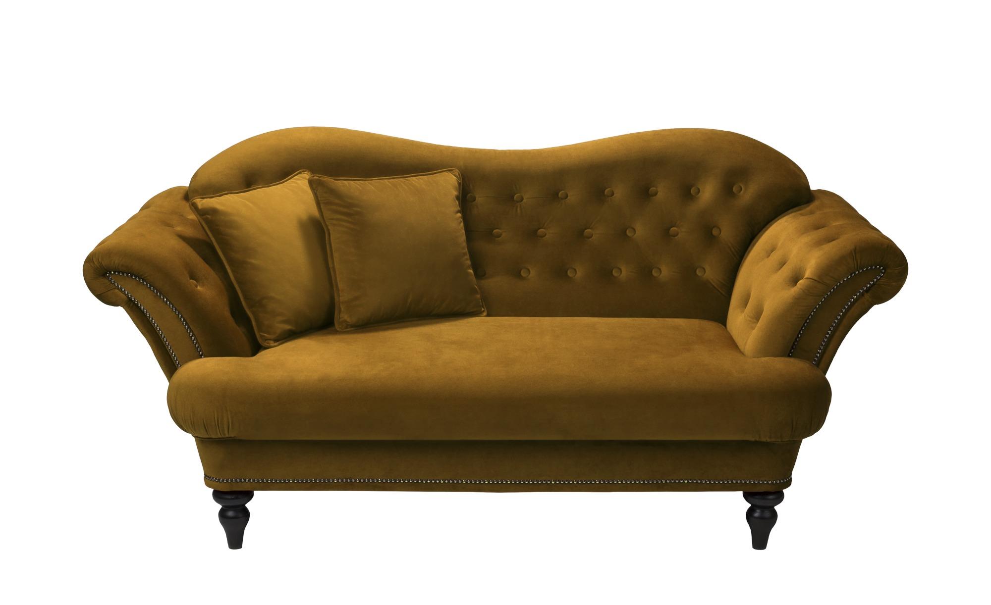 smart Sofa ocker - Mikrofaser Sissi ¦ gelb ¦ Maße (cm): B: 198 H: 93 T: 104 Polstermöbel > Sofas > 2-Sitzer - Höffner