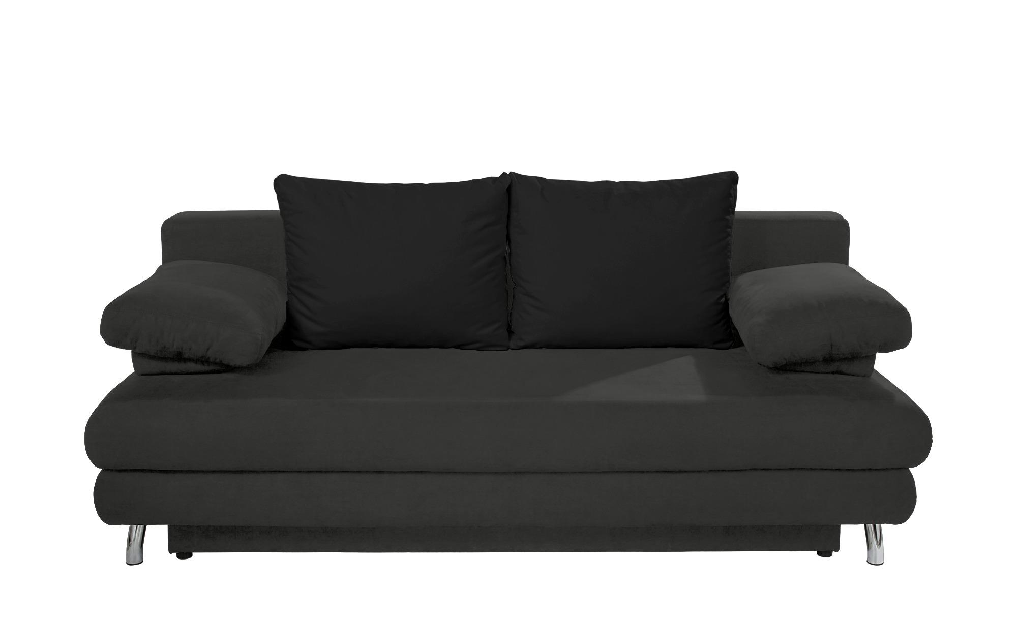 Schlafsofa grau - Webstoff Calina ¦ schwarz ¦ Maße (cm): B: 205 H: 80 T: 100 Polstermöbel > Sofas > 2-Sitzer - Höffner