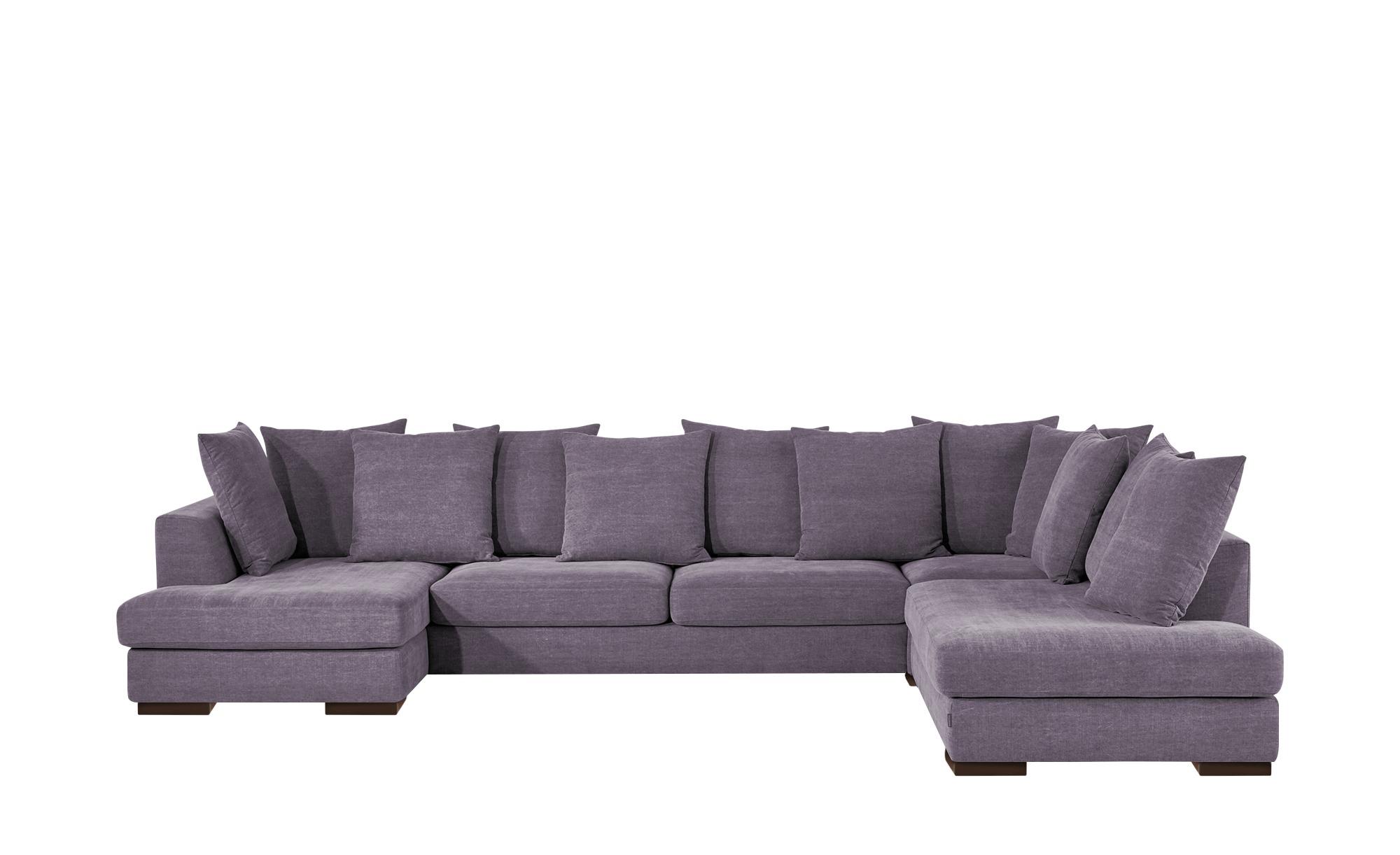 SOHO Wohnlandschaft lila - Flachgewebe Paulina ¦ lila/violett ¦ Maße (cm): B: 386 T: 258 Polstermöbel > Sofas > Wohnlandschaften - Höffner