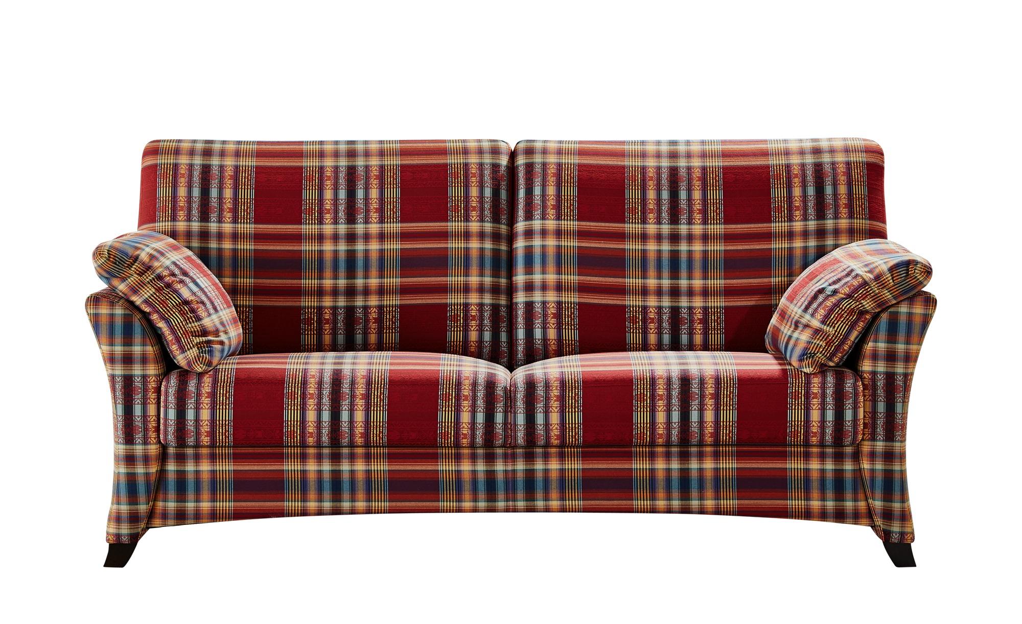 Sofa 2,5-sitzig rot/kariert - Webstoff Mikado ¦ rot ¦ Maße (cm): B: 176 H: 93 T: 91 Polstermöbel > Sofas > Einzelsofas - Höffner