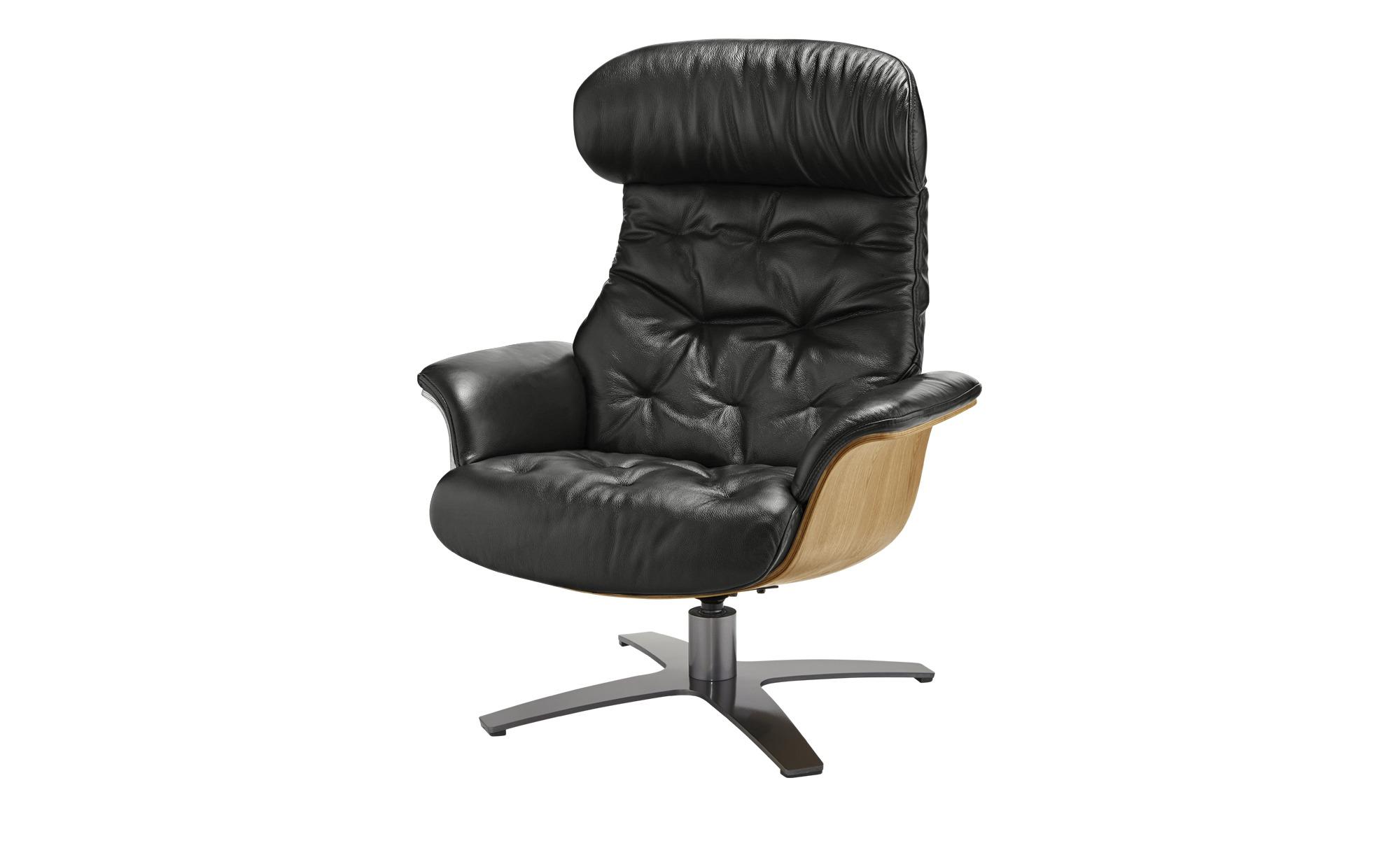 uno Relaxsessel  Charis ¦ schwarz ¦ Maße (cm): B: 79 H: 100 T: 84 Polstermöbel > Sessel > Ledersessel - Höffner