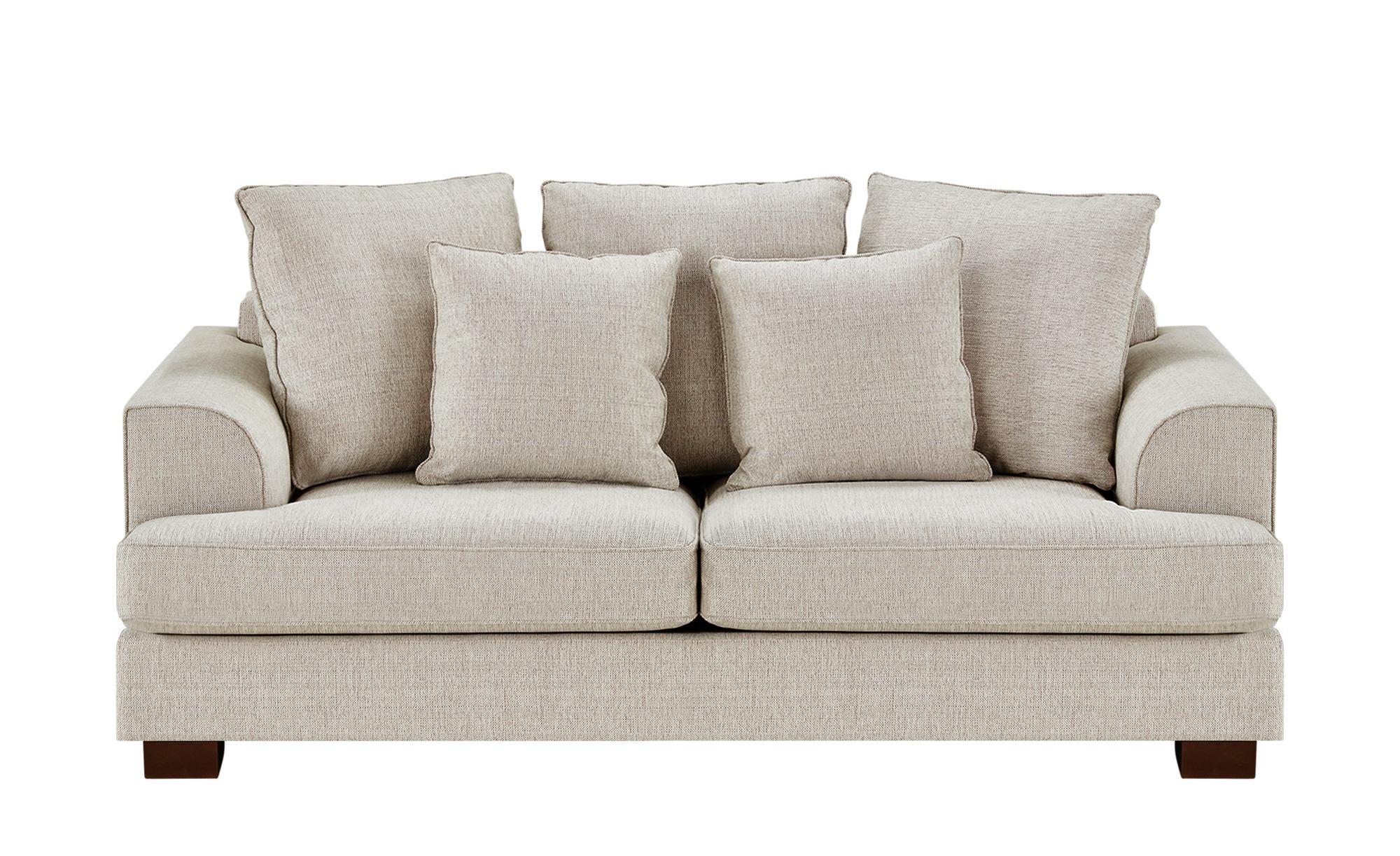 SOHO Sofa braun - Webstoff Franka ¦ beige ¦ Maße (cm): B: 199 H: 87 T: 103 Polstermöbel > Sofas > Einzelsofas - Höffner