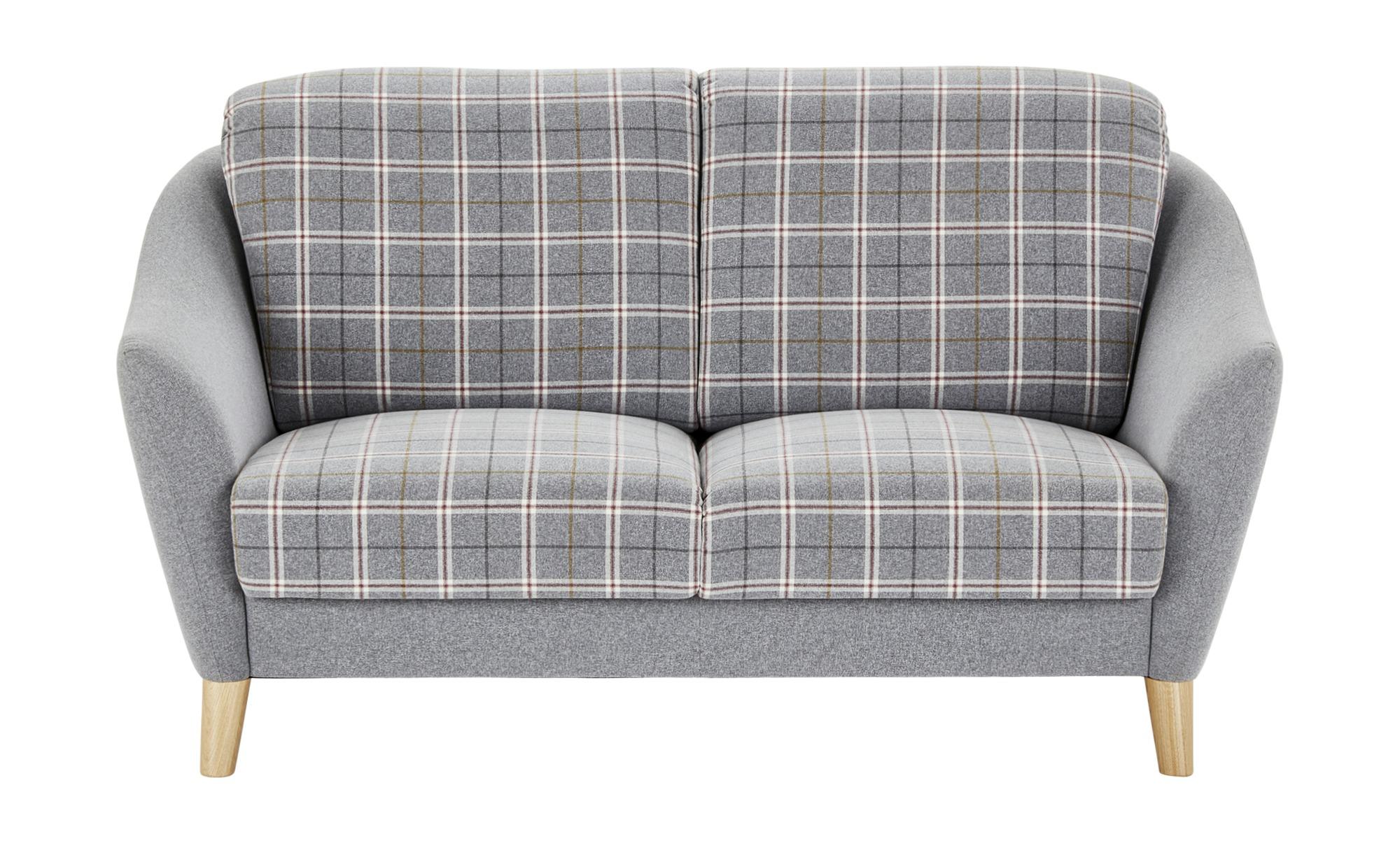 Sofa 2-sitzig grau - Webstoff Seefeld-Plus ¦ grau ¦ Maße (cm): B: 162 H: 92 T: 91 Polstermöbel > Sofas > 2-Sitzer - Höffner