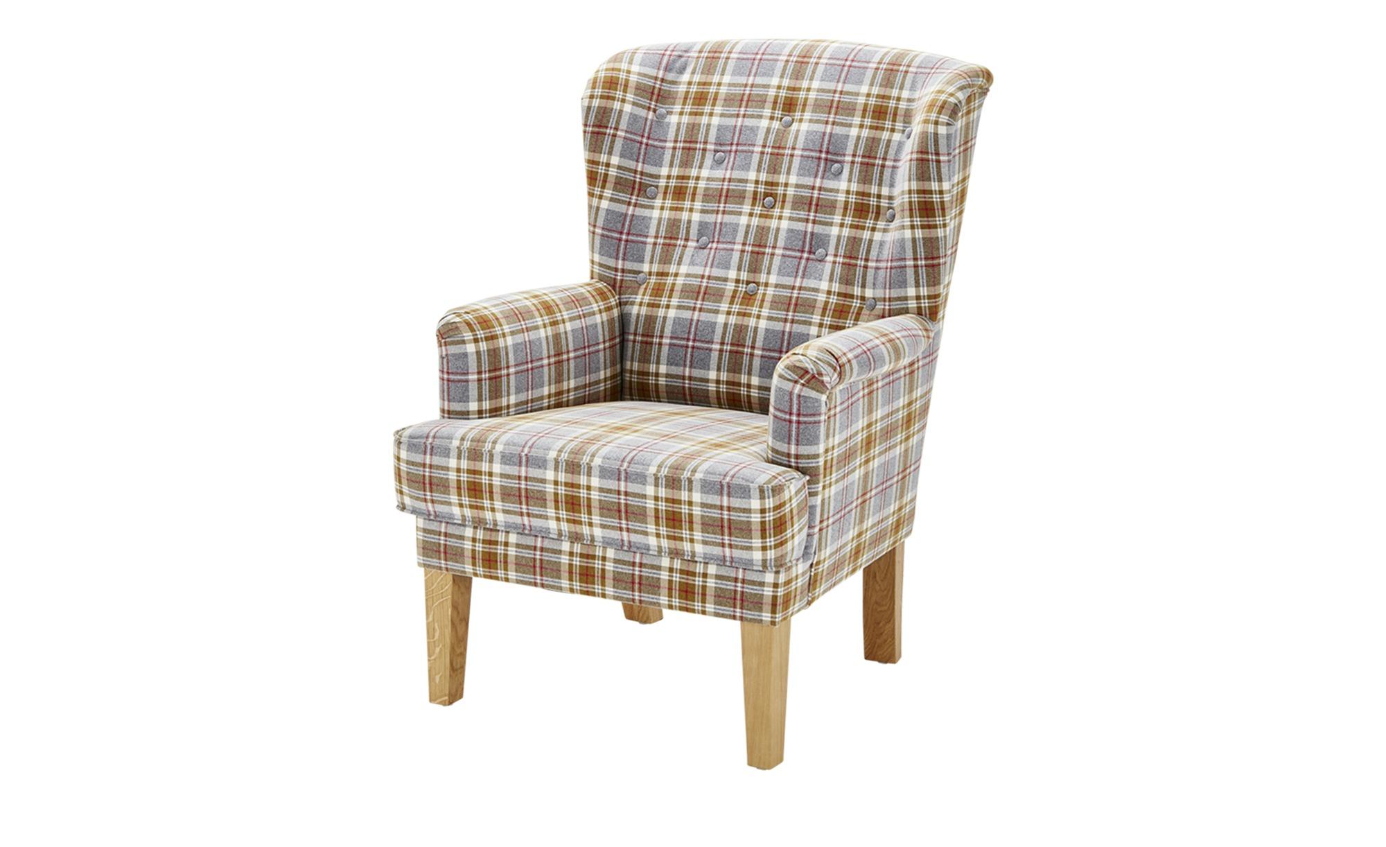 Sessel kariert - Stoff Reith ¦ mehrfarbig ¦ Maße (cm): B: 74 H: 105 T: 87 Polstermöbel > Sessel > Ohrensessel - Höffner