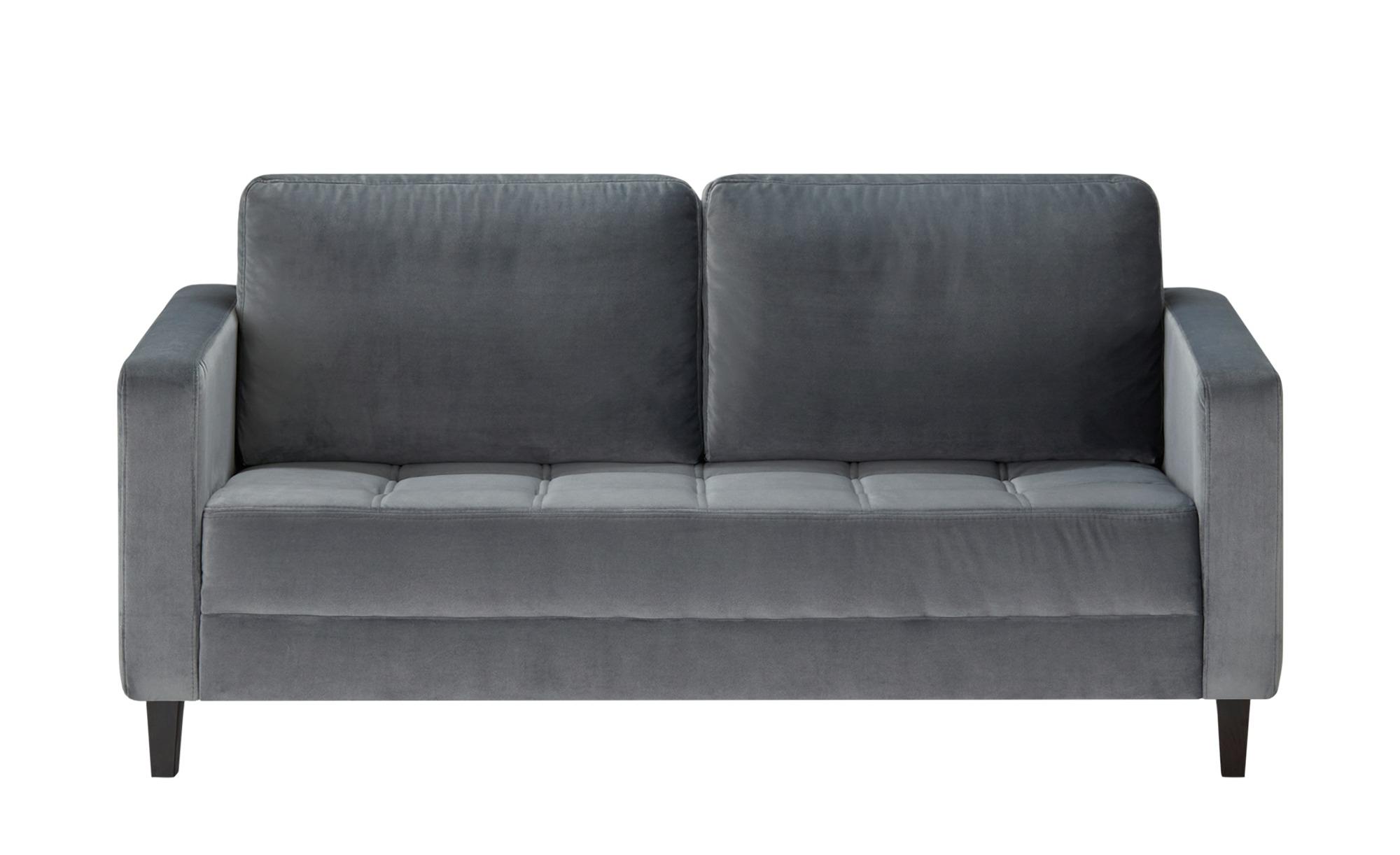 smart Sofa grau - Mikrofaser Geradine ¦ grau ¦ Maße (cm): B: 177 H: 93 T: 92 Polstermöbel > Sofas > 2-Sitzer - Höffner