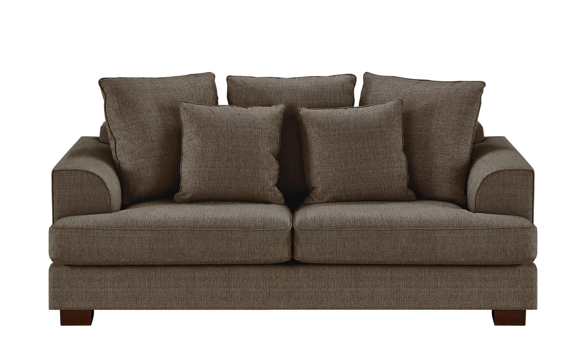SOHO Sofa braun - Webstoff Franka ¦ braun ¦ Maße (cm): B: 199 H: 87 T: 103 Polstermöbel > Sofas > Einzelsofas - Höffner