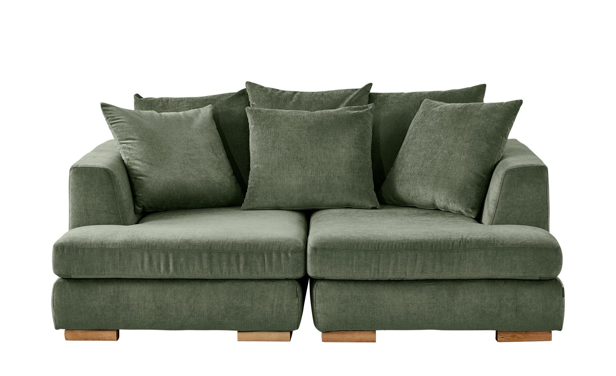 SOHO Loveseat grün - Webstoff Paso Doble ¦ grün ¦ Maße (cm): B: 202 H: 80 T: 156 Polstermöbel > Sofas > 2-Sitzer - Höffner