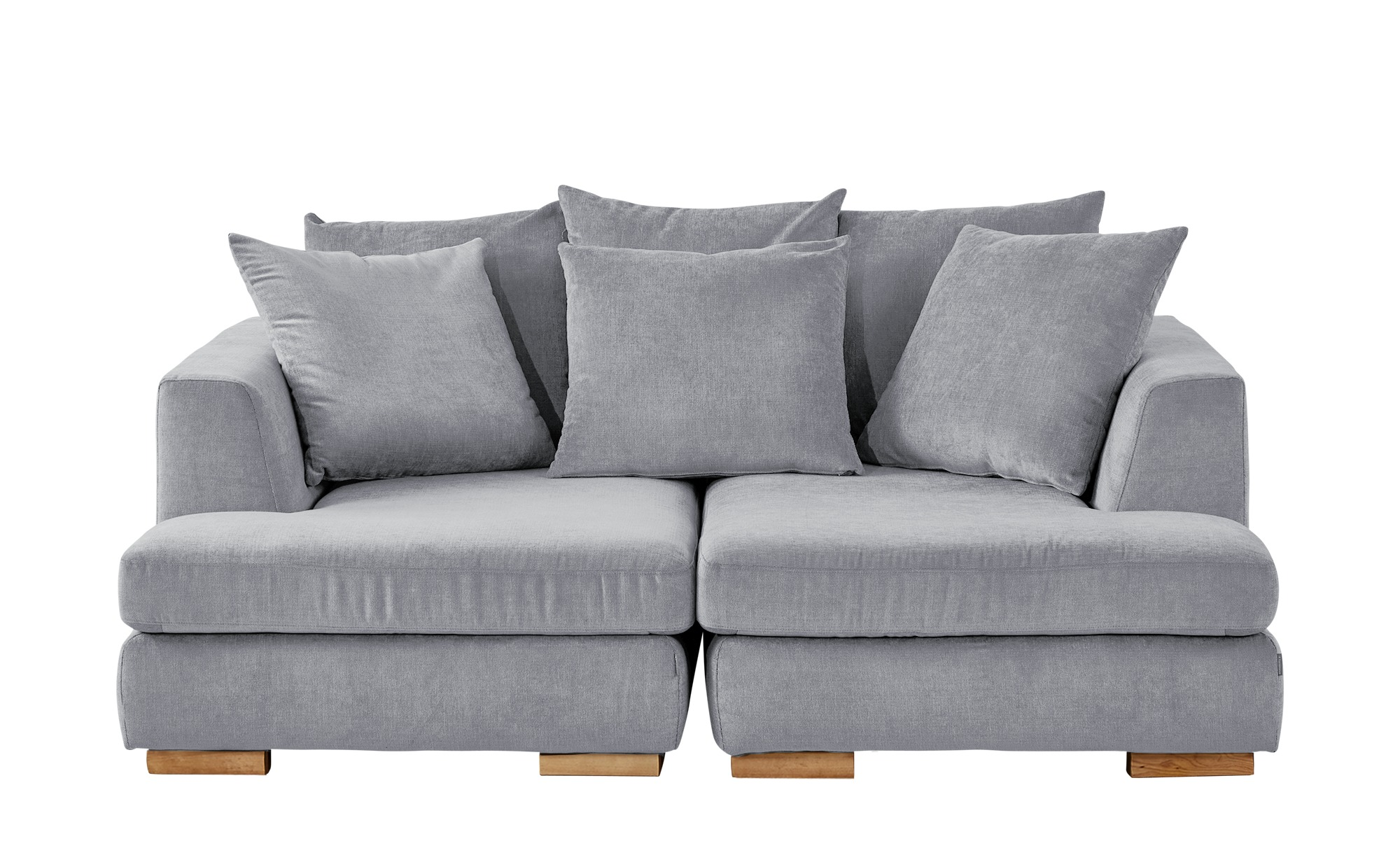 SOHO Loveseat grau - Webstoff Paso Doble ¦ silber ¦ Maße (cm): B: 202 H: 80 T: 156 Polstermöbel > Sofas > 2-Sitzer - Höffner