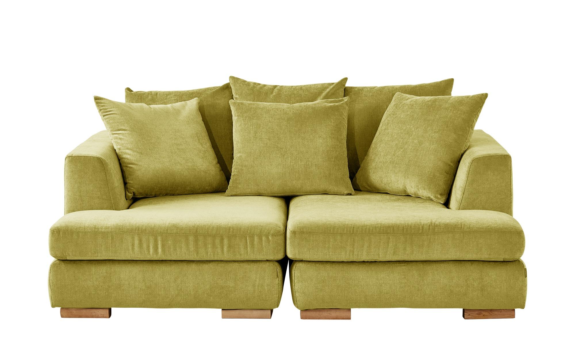 SOHO Loveseat gelb - Webstoff Paso Doble ¦ gelb ¦ Maße (cm): B: 202 H: 80 T: 156 Polstermöbel > Sofas > 2-Sitzer - Höffner