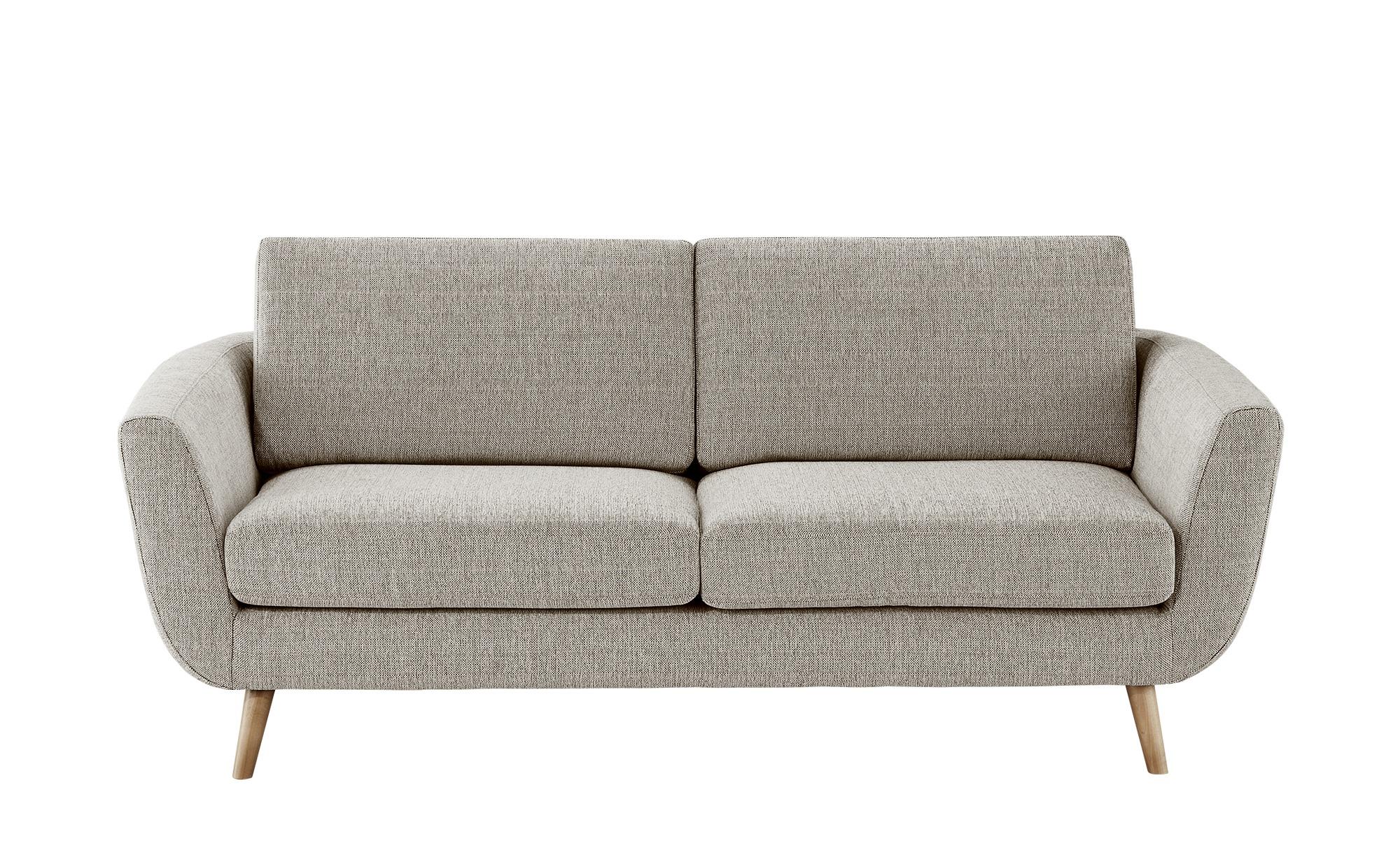 SOHO Sofa braun - Webstoff Smilla ¦ beige ¦ Maße (cm): B: 197 H: 78 T: 93 Polstermöbel > Sofas > Einzelsofas - Höffner