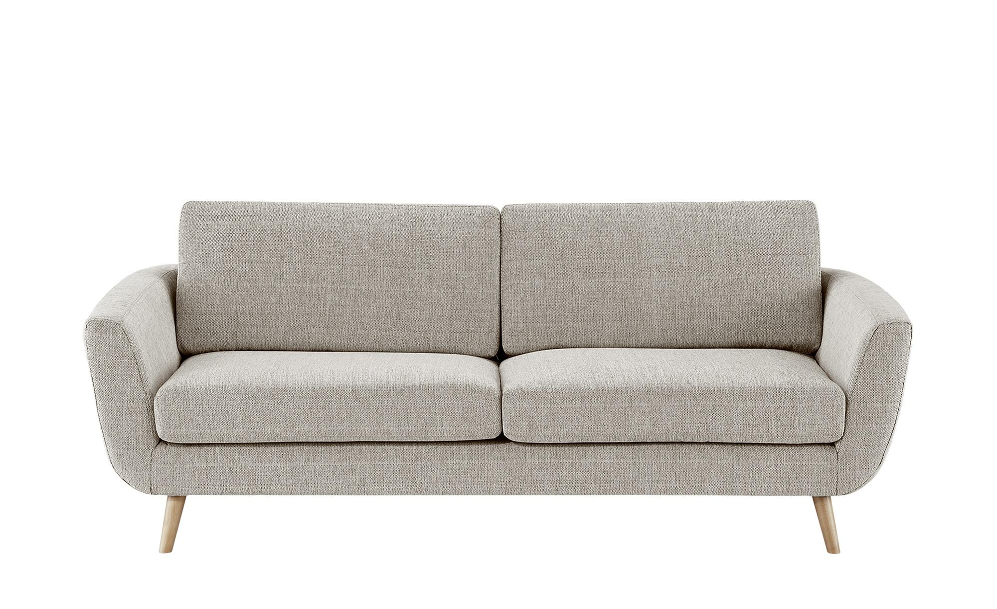 SOHO Sofa braun - Webstoff Smilla ¦ Maße (cm): B: 217 H: 85 T: 93 Polstermöbel > Sofas > 3-Sitzer - Höffner