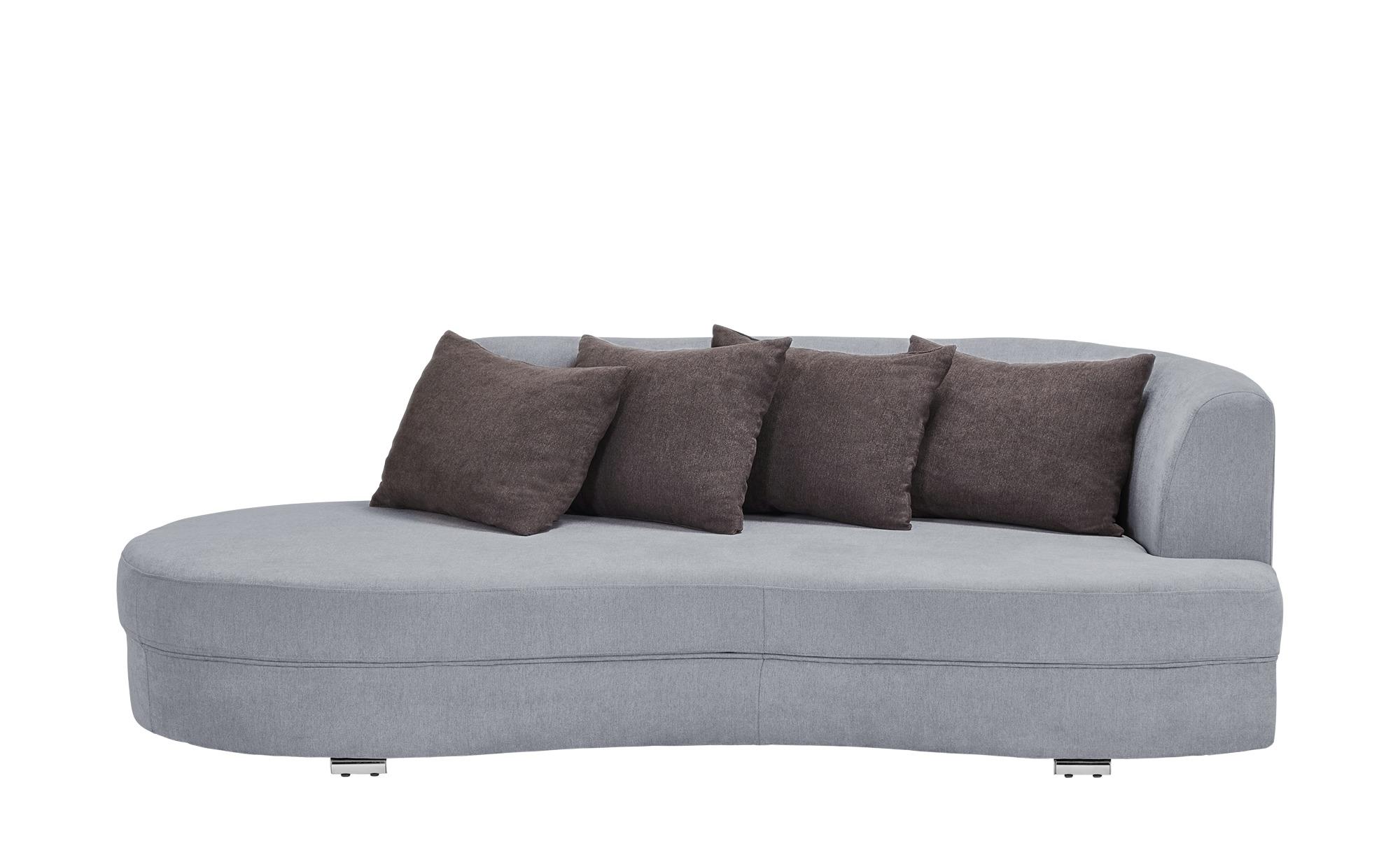 smart Big Sofa grau - Flachgewebe Marina ¦ grau ¦ Maße (cm): B: 211 H: 69 T: 109 Polstermöbel > Sofas > Big-Sofas - Höffner