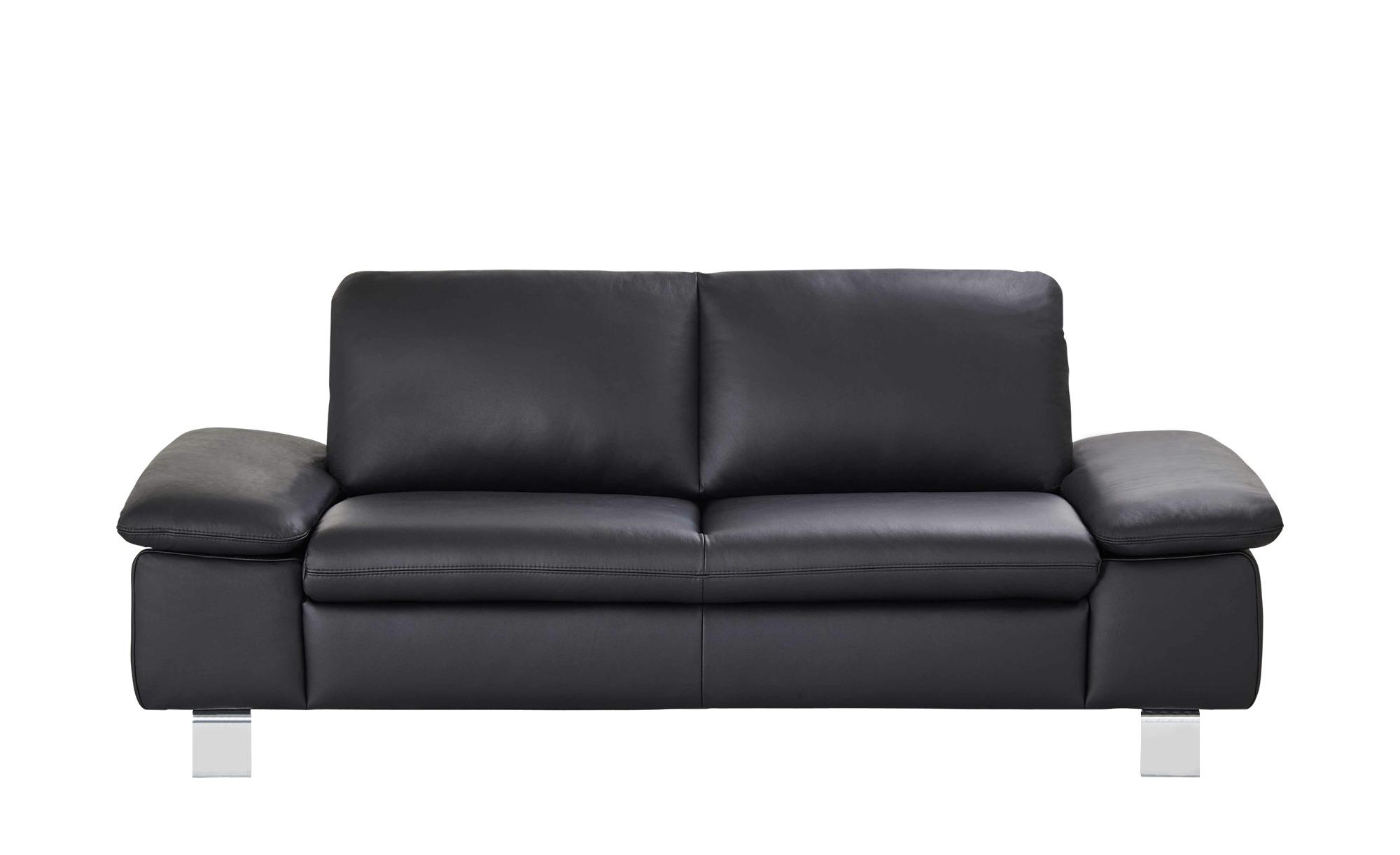 smart Sofa schwarz - Leder Finola ¦ schwarz ¦ Maße (cm): B: 181 H: 83 T: 94 Polstermöbel > Sofas > 2-Sitzer - Höffner