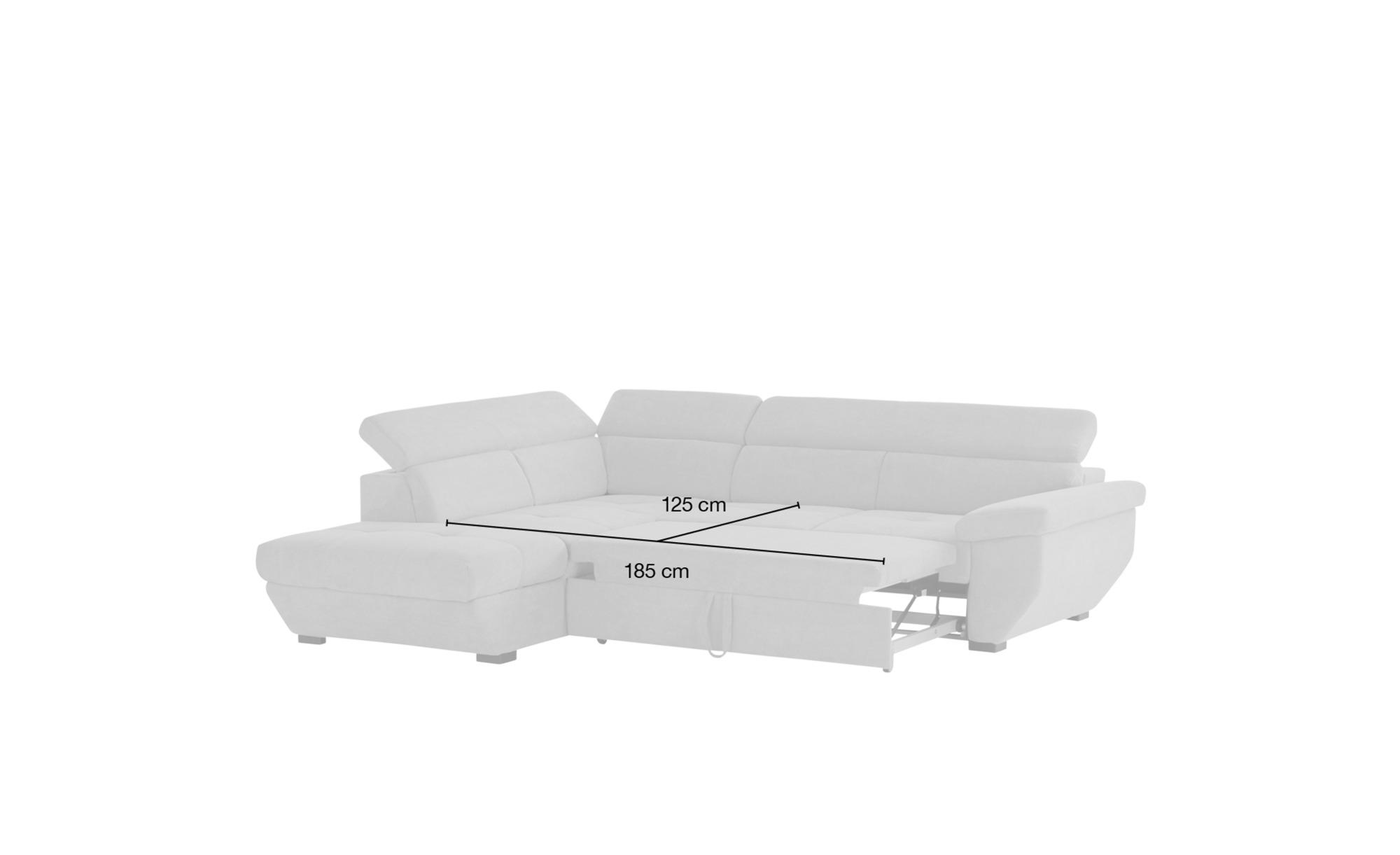 uno Ecksofa schwarz - Leder Formula ¦ schwarz ¦ Maße (cm): H: 79 Polstermöbel > Sofas > Ecksofas - Höffner