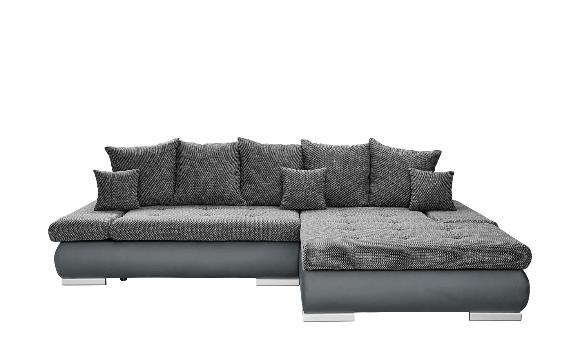 switch Eckcouch 2-farbig grau/schwarz - Kunstleder/Webstoff Ivan ¦ grau ¦ Maße (cm): H: 80 Polstermöbel > Sofas > Ecksofas - Höffner