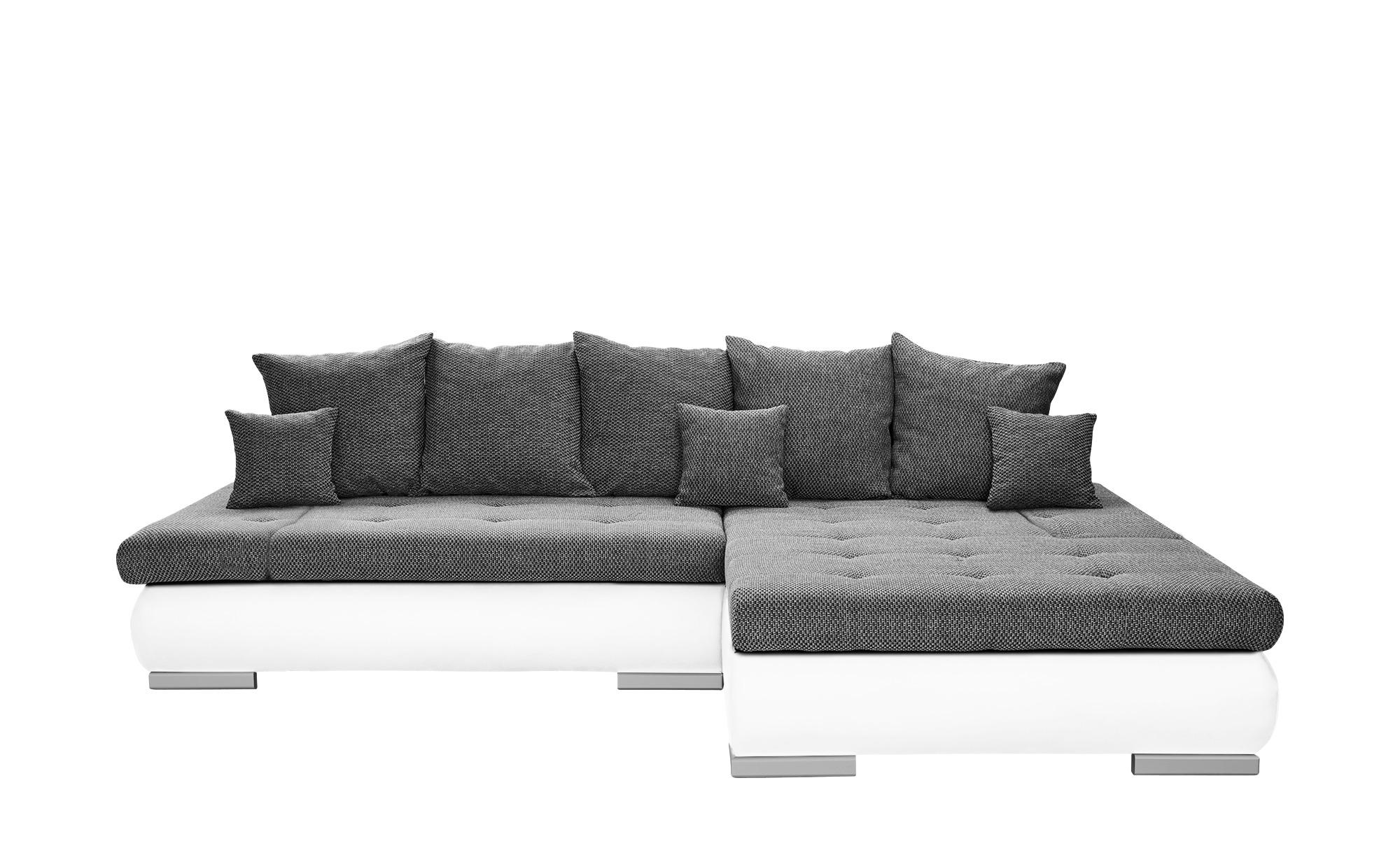 switch Eckcouch weiß/grau - Kunstleder/Webstoff Ivan ¦ grau ¦ Maße (cm): H: 80 Polstermöbel > Sofas > Ecksofas - Höffner