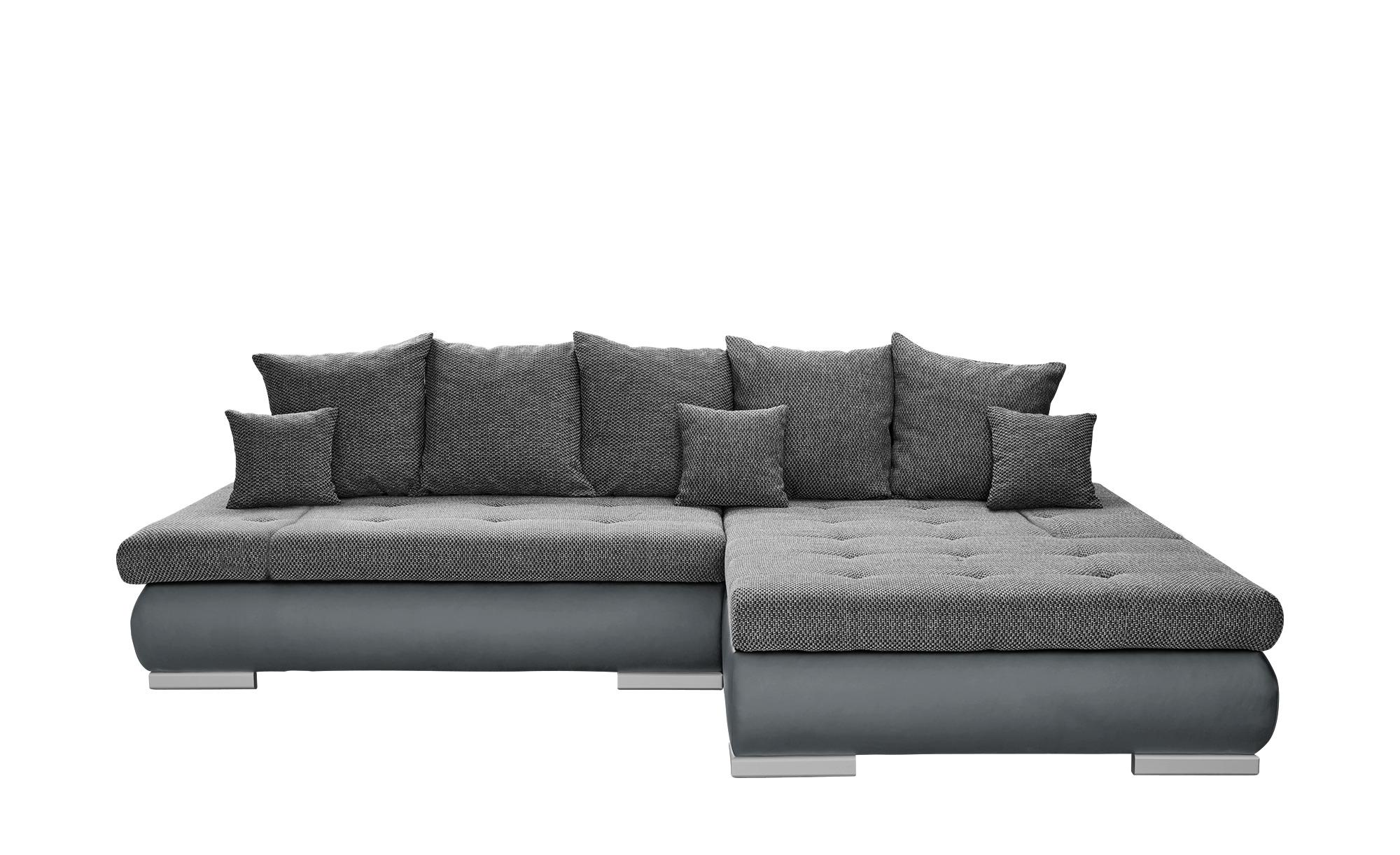 switch Eckcouch grau - Kunstleder/Webstoff Ivan ¦ grau ¦ Maße (cm): H: 80 Polstermöbel > Sofas > Ecksofas - Höffner