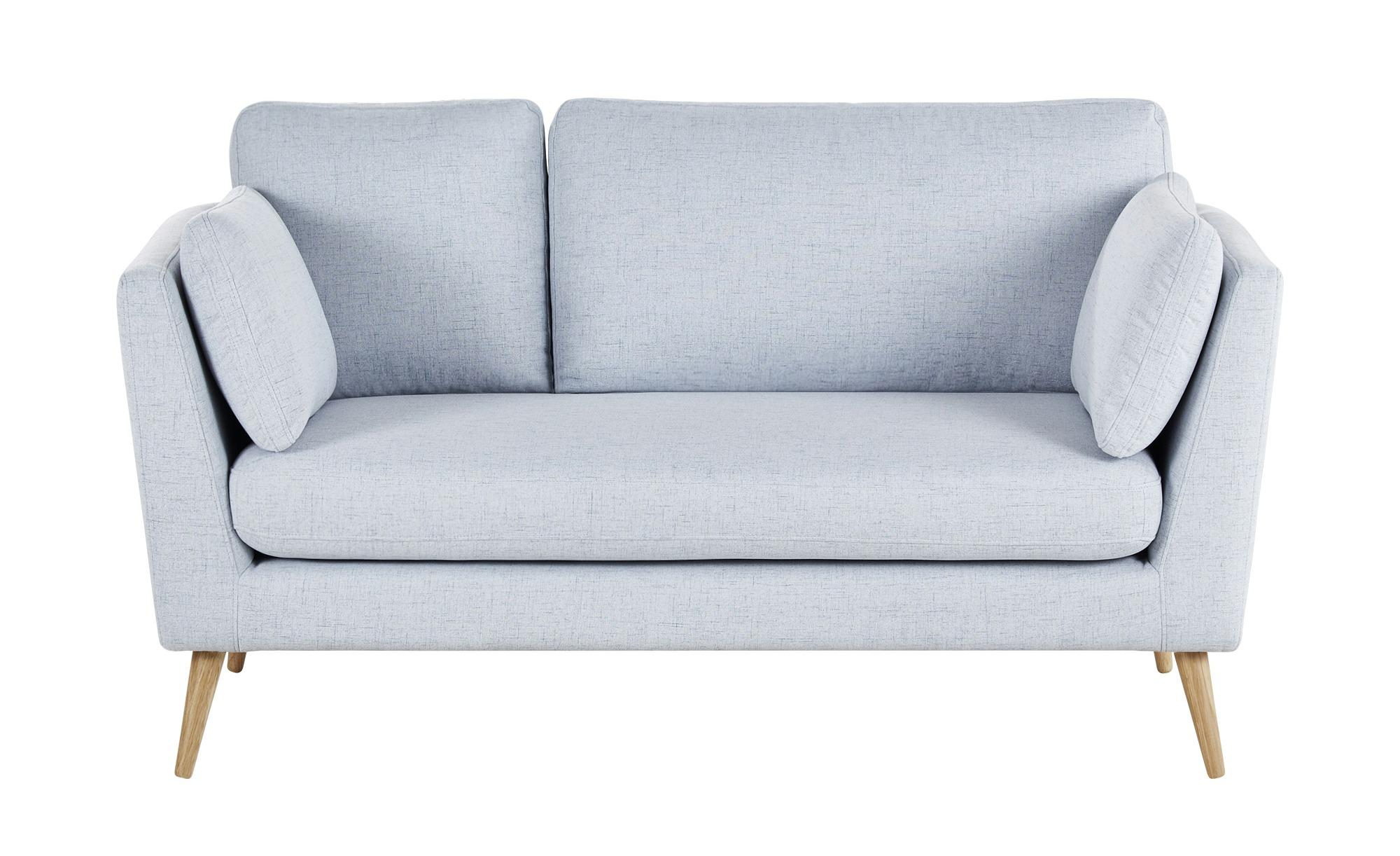 finya Skandi-Sofa graublau - Webstoff Jane ¦ blau ¦ Maße (cm): B: 162 H: 92 T: 88 Polstermöbel > Sofas > 2-Sitzer - Höffner